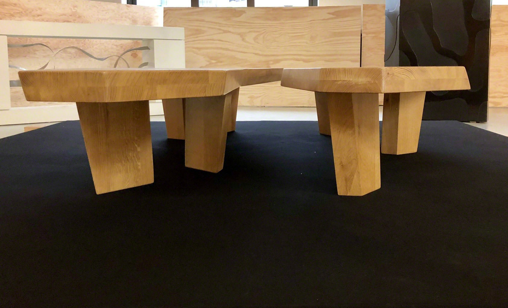 """Nazca"" Nesting  coffee tables  by Jacques Jarrige"
