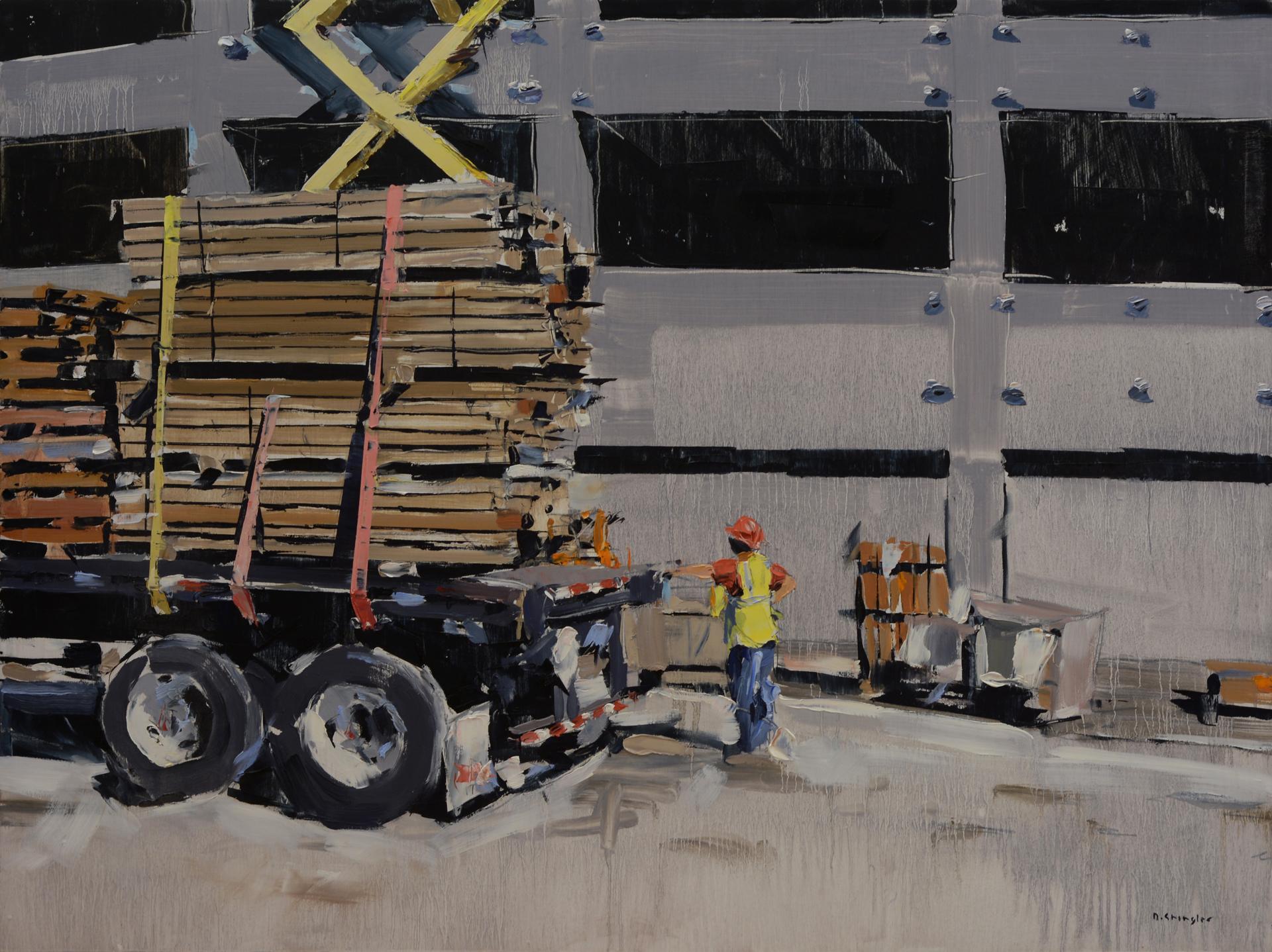 Unloading Truck by David Shingler