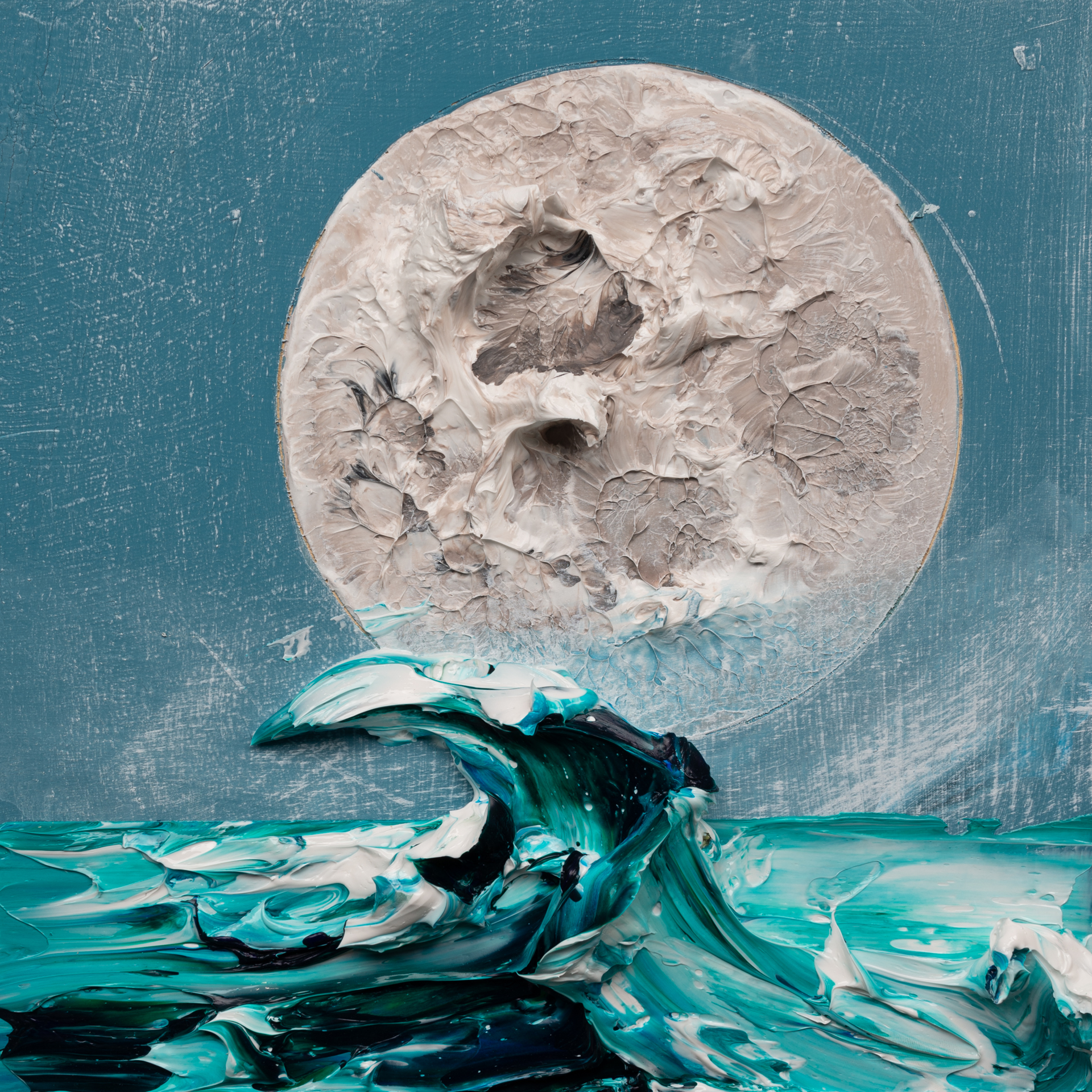 (SOLD) MOONSCAPE MS-12X12-2019-319 by JUSTIN GAFFREY