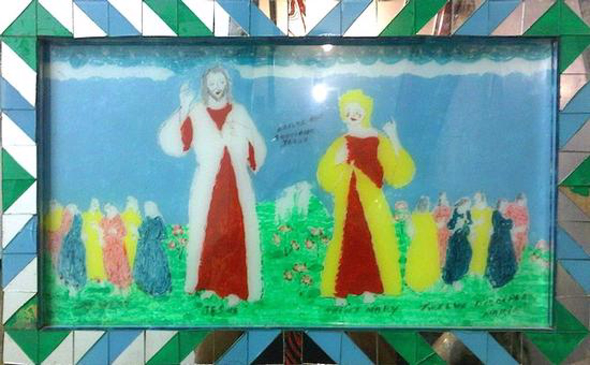 Jesus, Saint Mary and The Disciples by Makiki aka Geraldo Alfonso