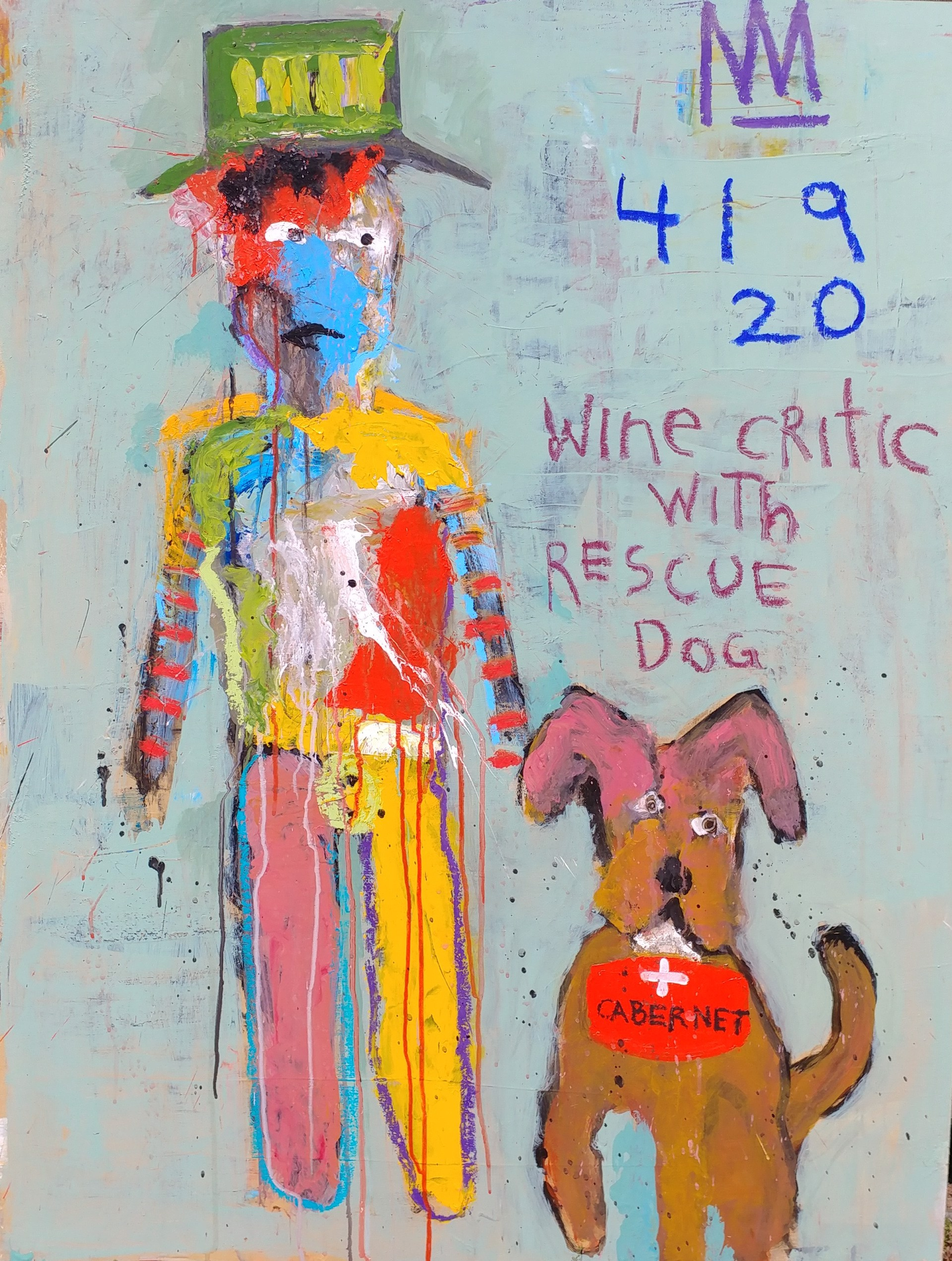 Wine Critic With Rescue Dog by Michael Snodgrass
