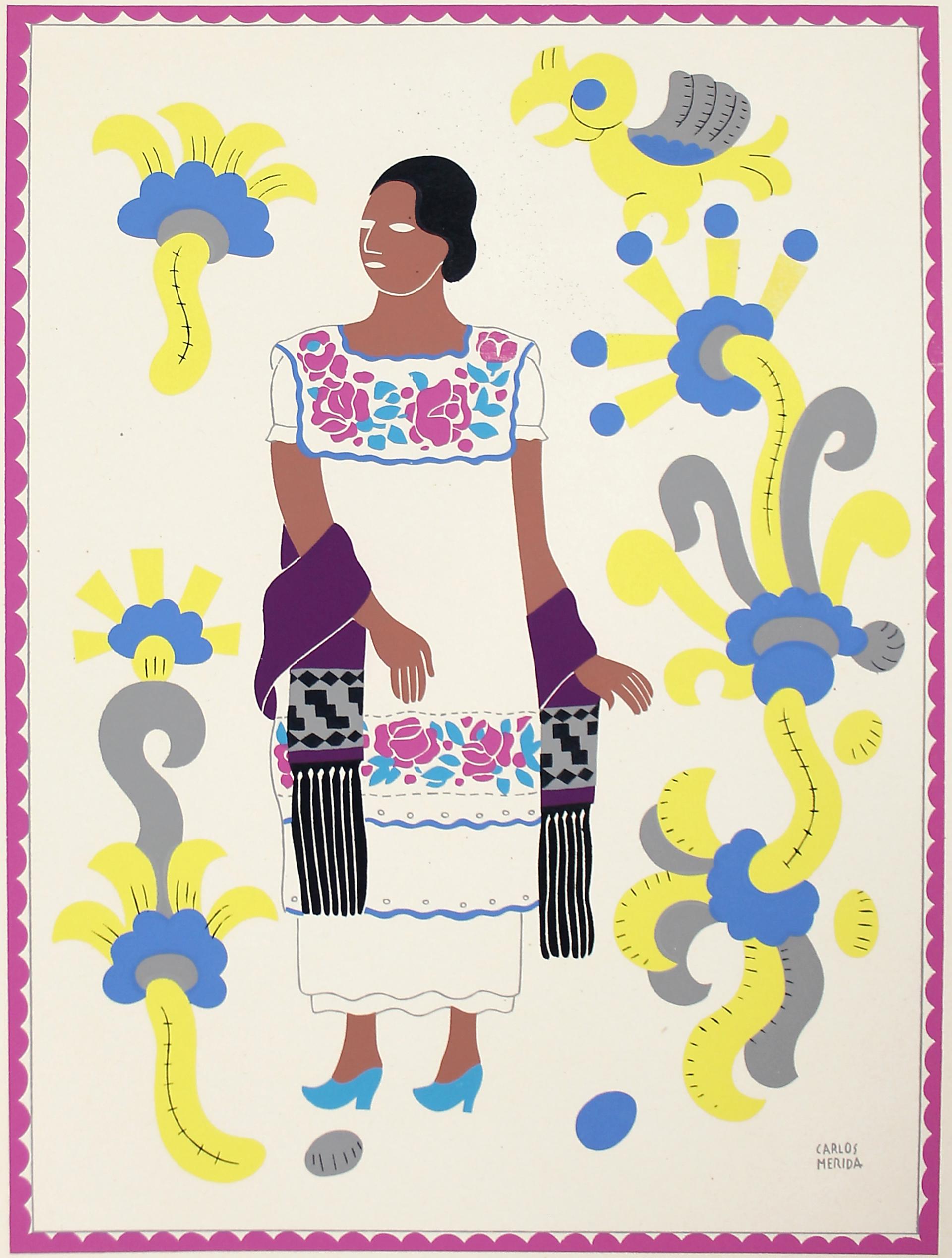 Mestiza, Estado de Yucatán by Carlos Mérida (1891 - 1985)