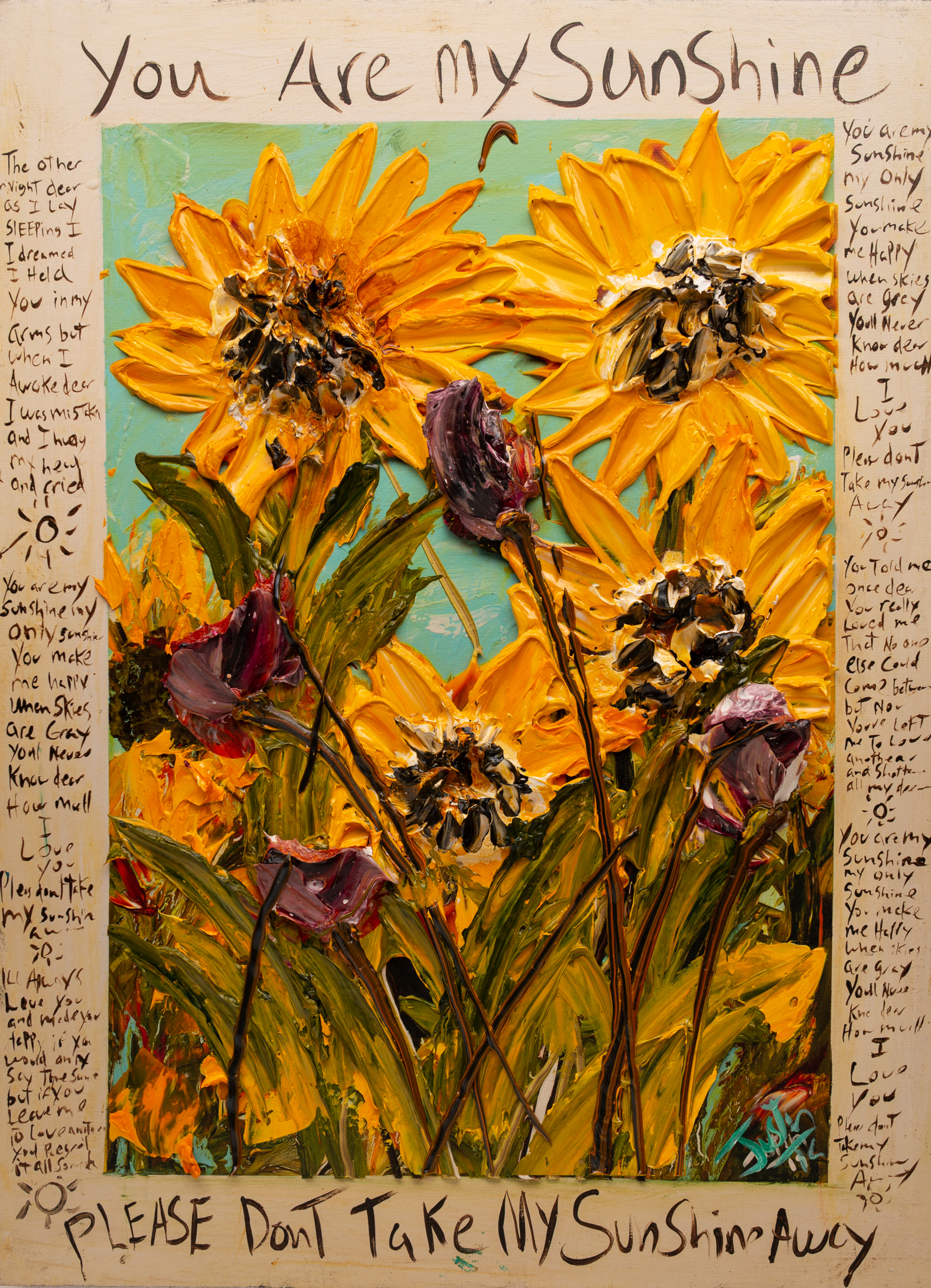 YOU ARE MY SUNSHINE URMS HPAE 12-50-24X32-2019-34 by JUSTIN GAFFREY EDITIONS