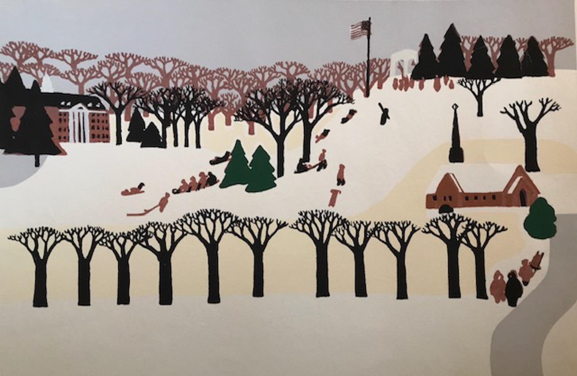 Memorial Park Winter Scene by Judith Welk