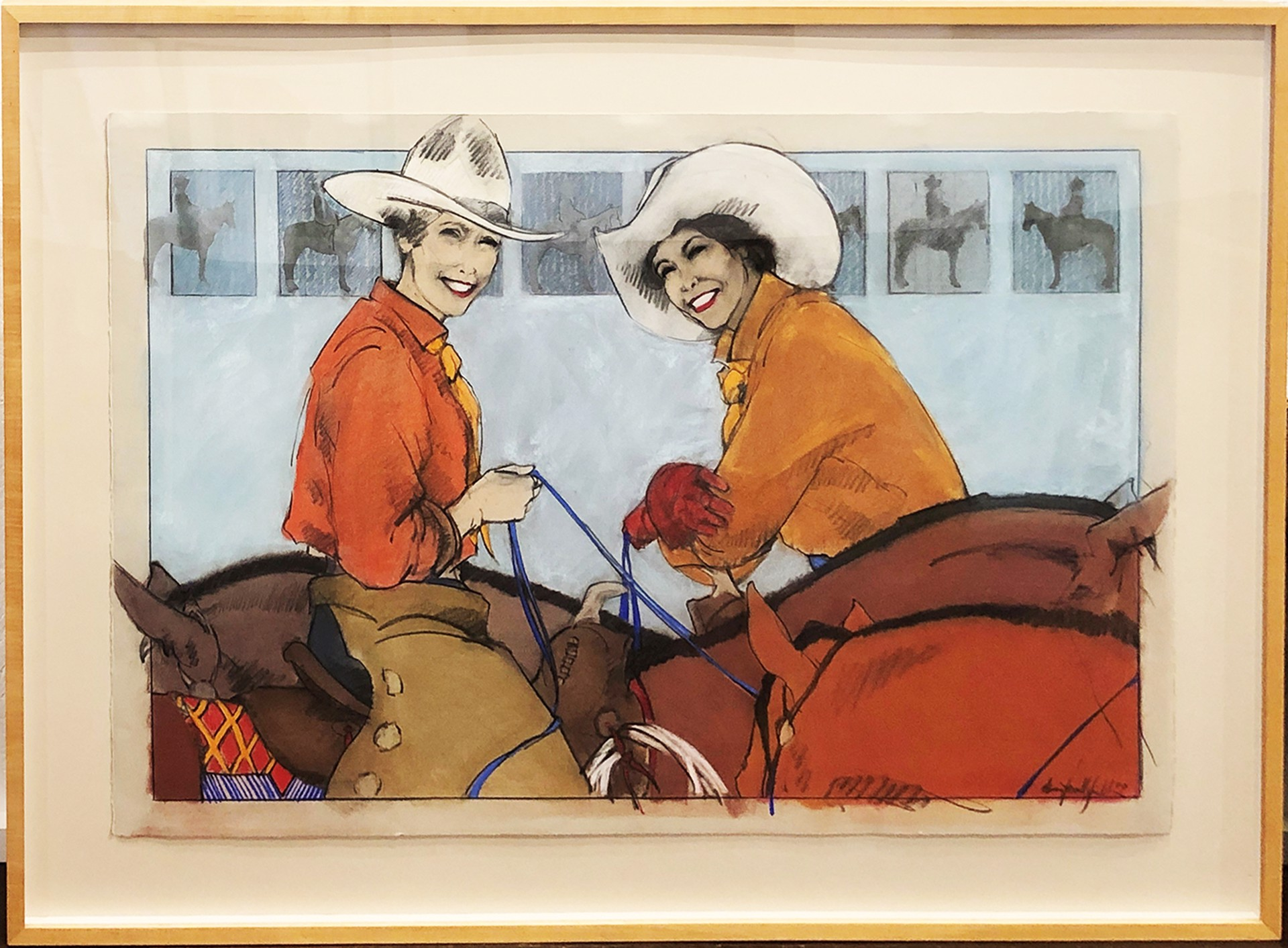 Two Cowgirls by Donna Howell-Sickles