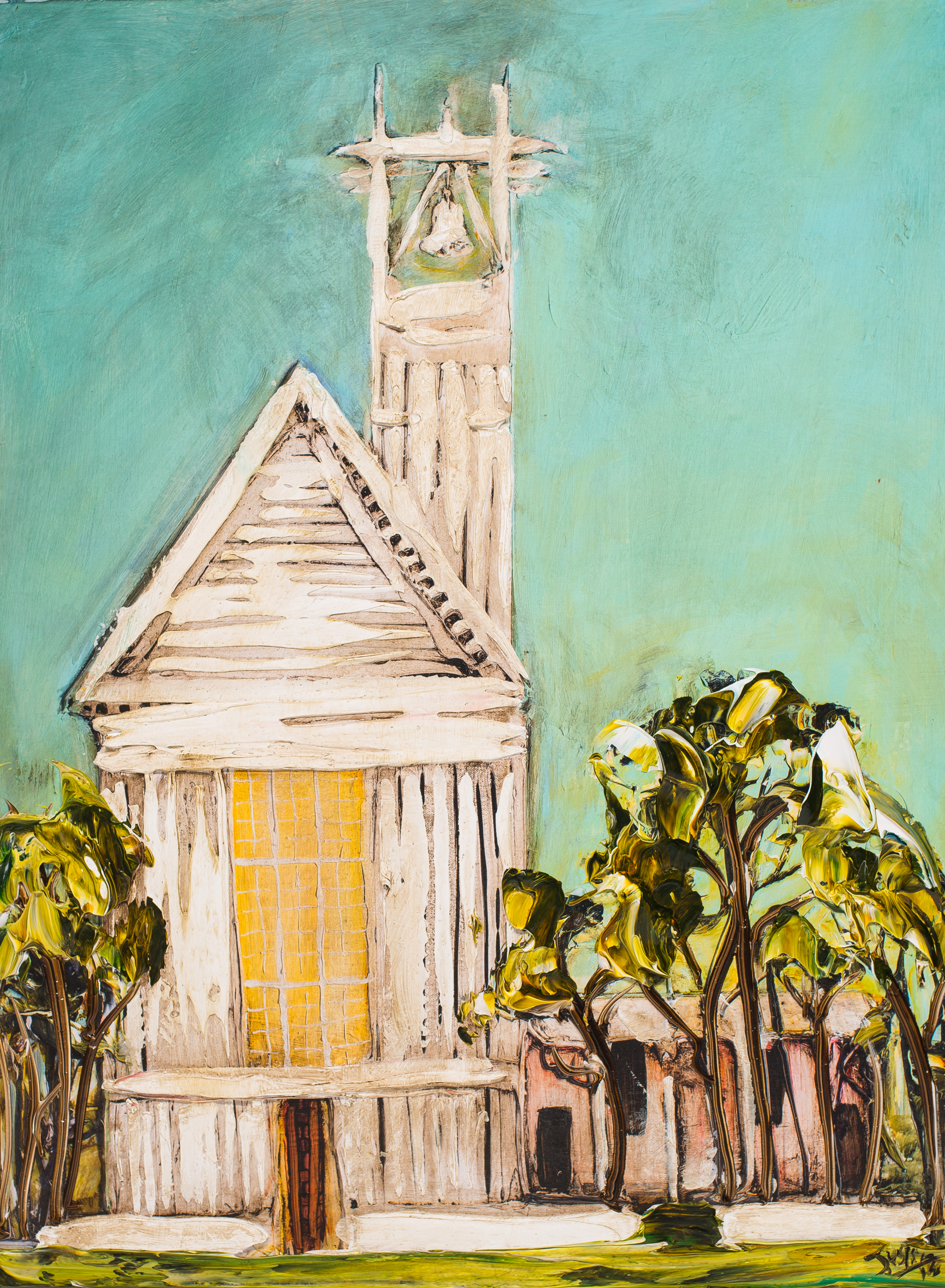 (SOLD)SEASIDE CHAPEL HPAE SC24X32-2018-1.5FR HPAE 1/50 by Justin Gaffrey