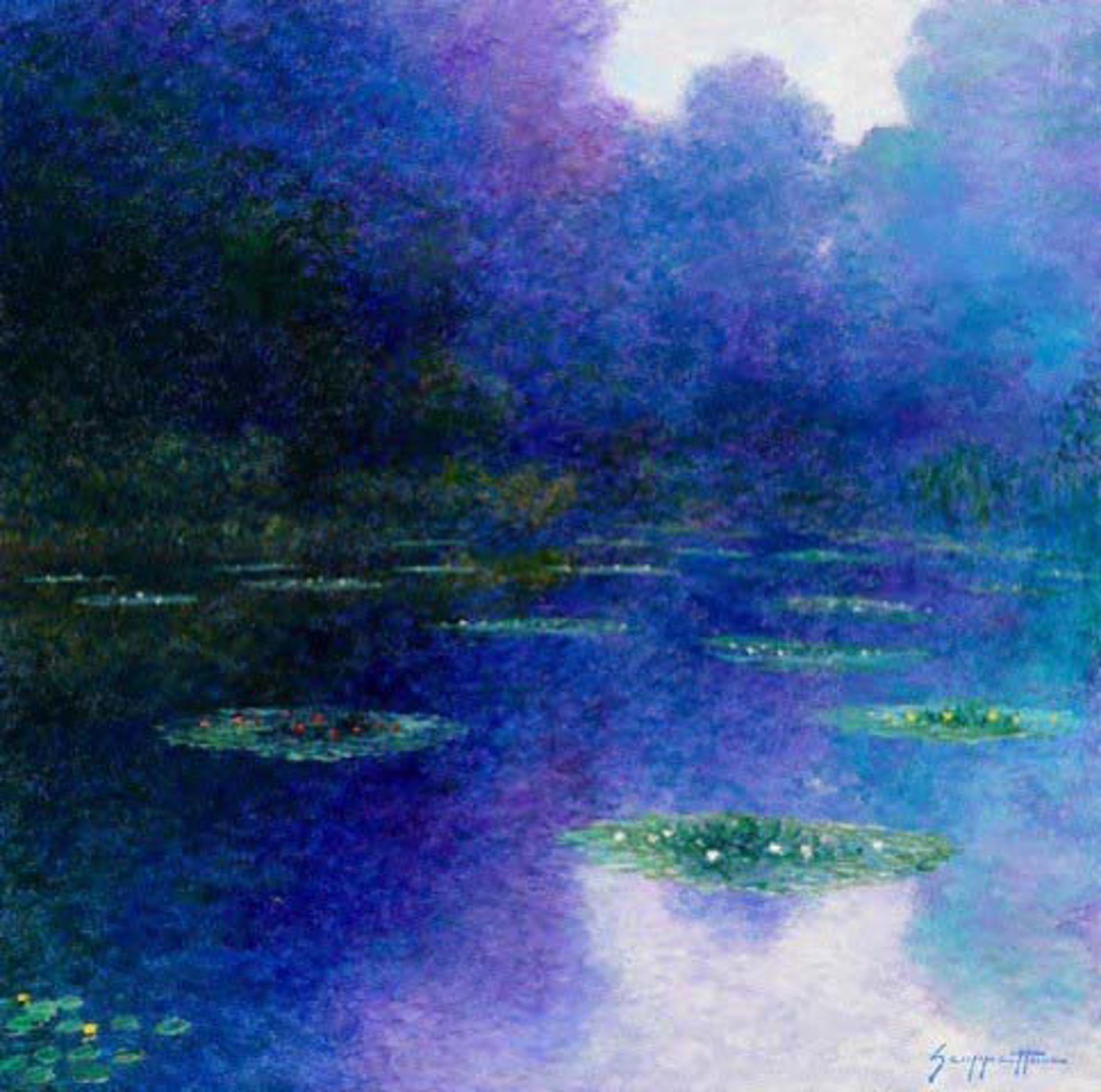 Dreamy Water Garden In Shadow by James Scoppettone