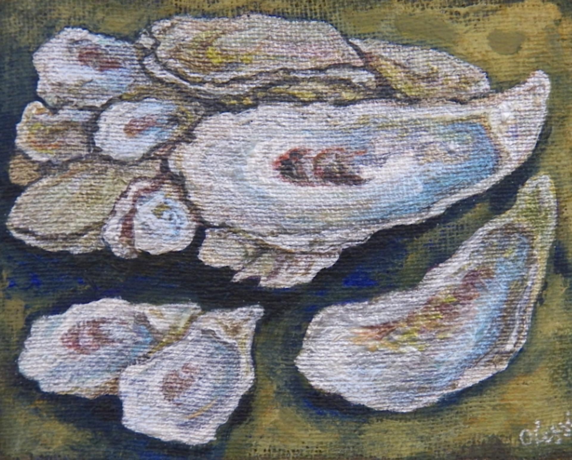 Metallic Oyster Study by Olessia Maximenko