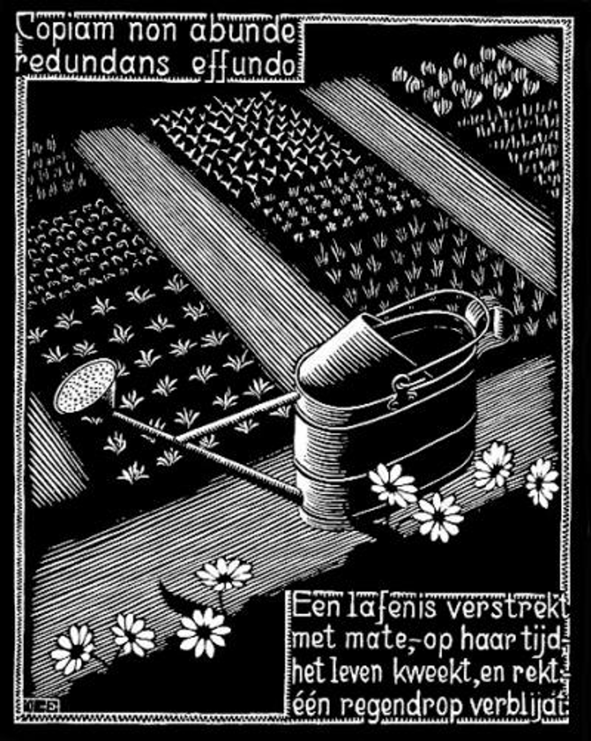 Emblemata - Watering Can by M.C. Escher