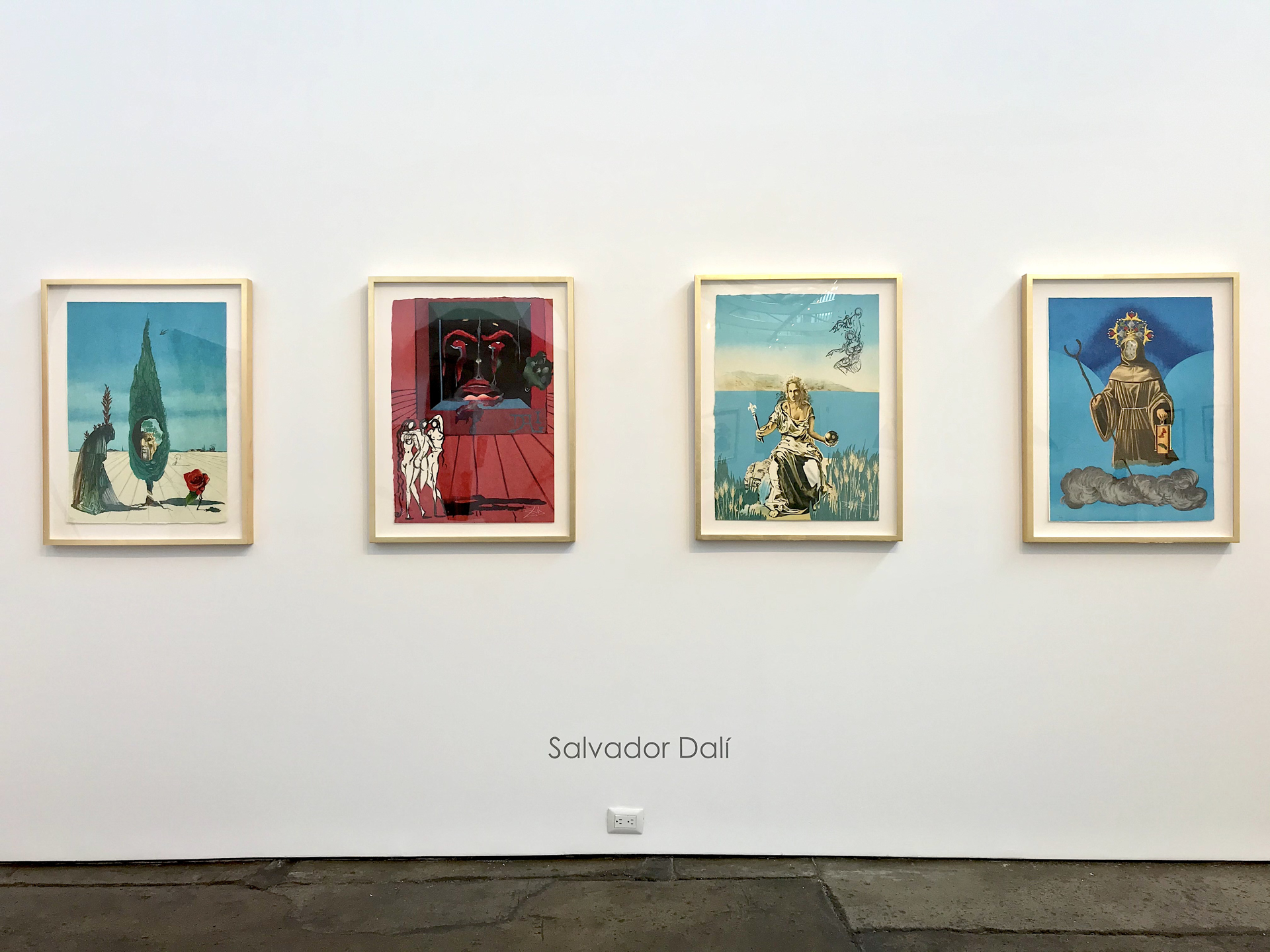 Tarot Suite of 4 Visions Surrealiste by Salvador Dali