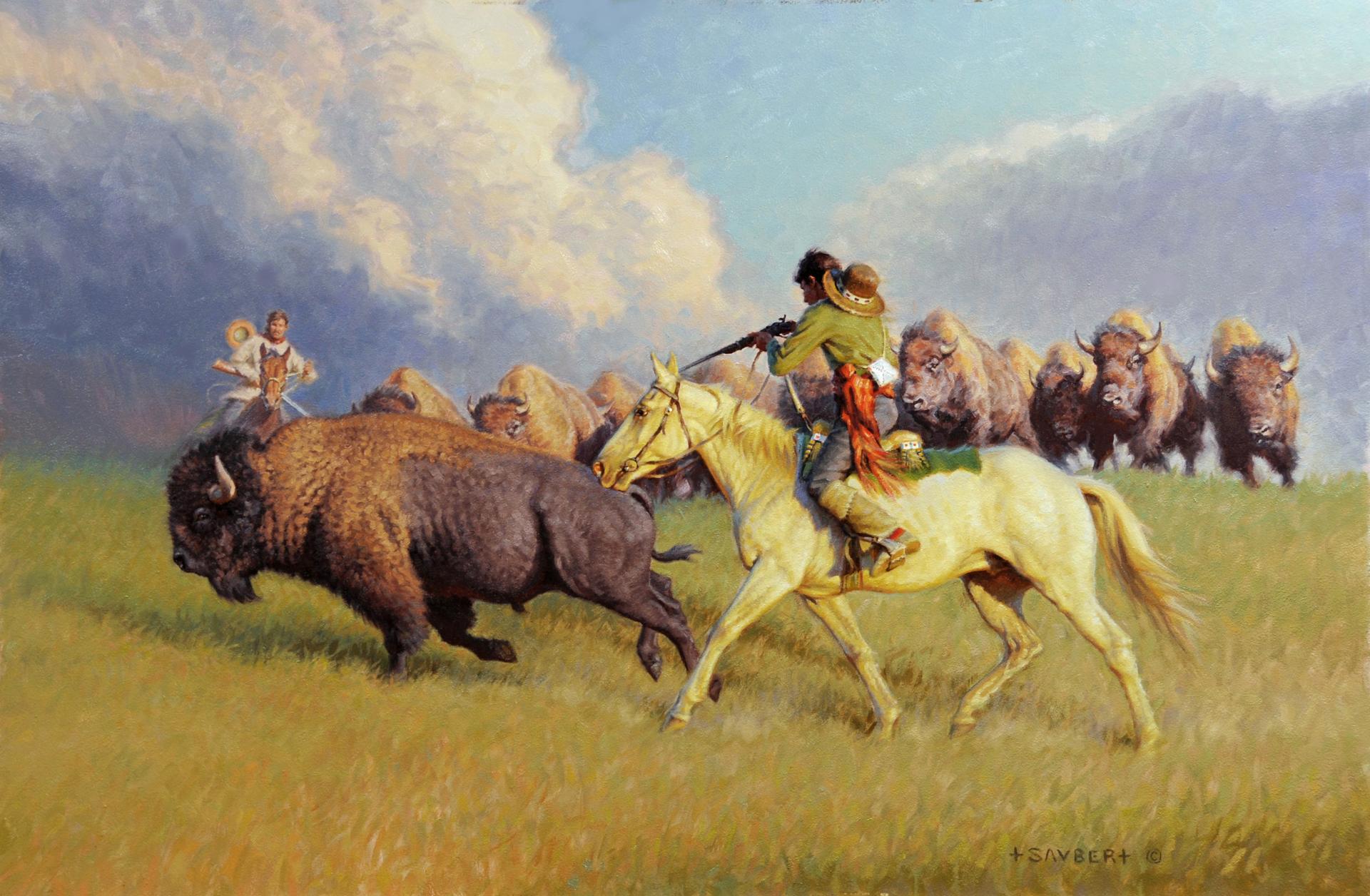 Metis Hide Hunters by Tom Saubert