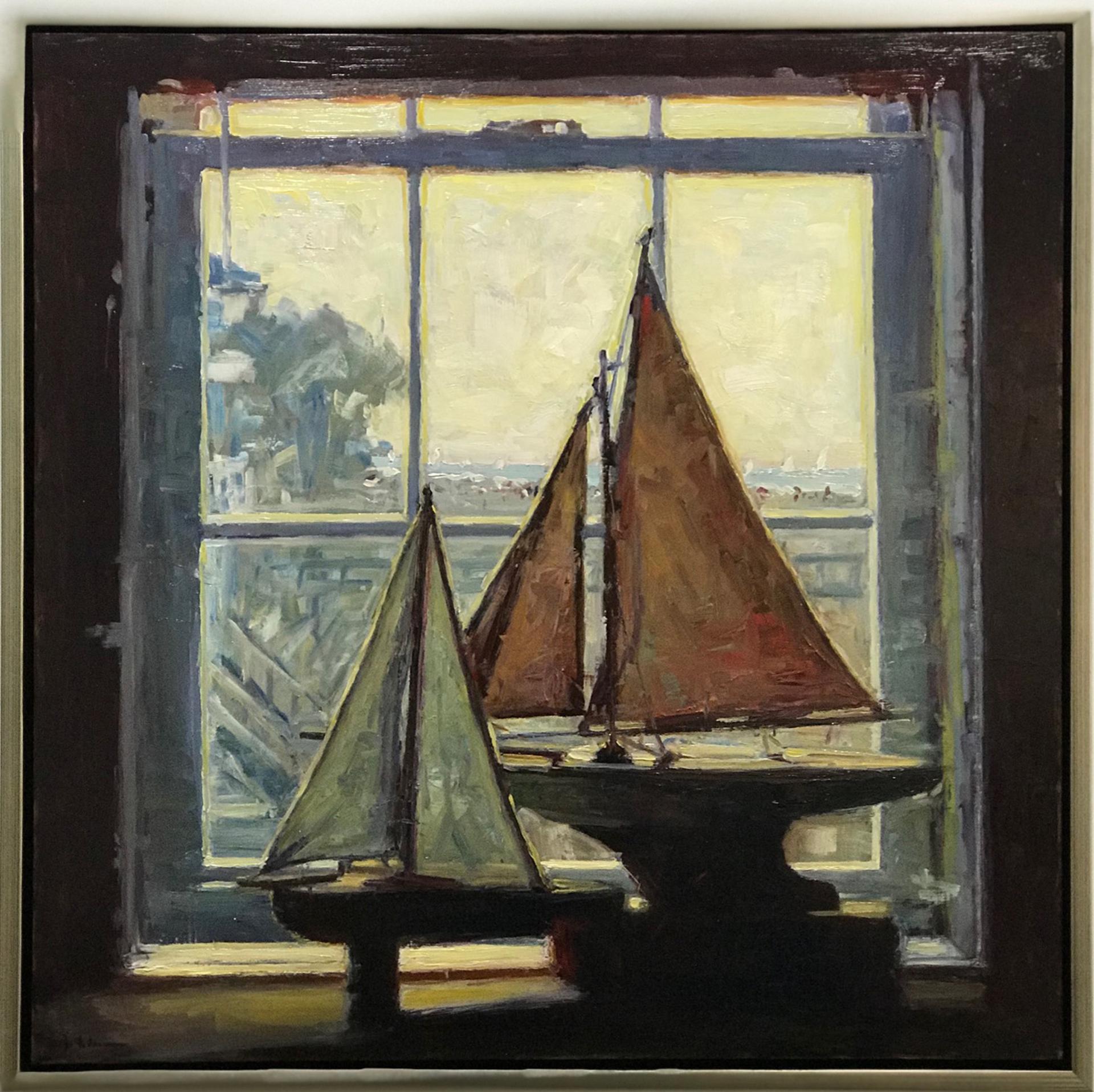 Boats in the Window by Brett Weaver