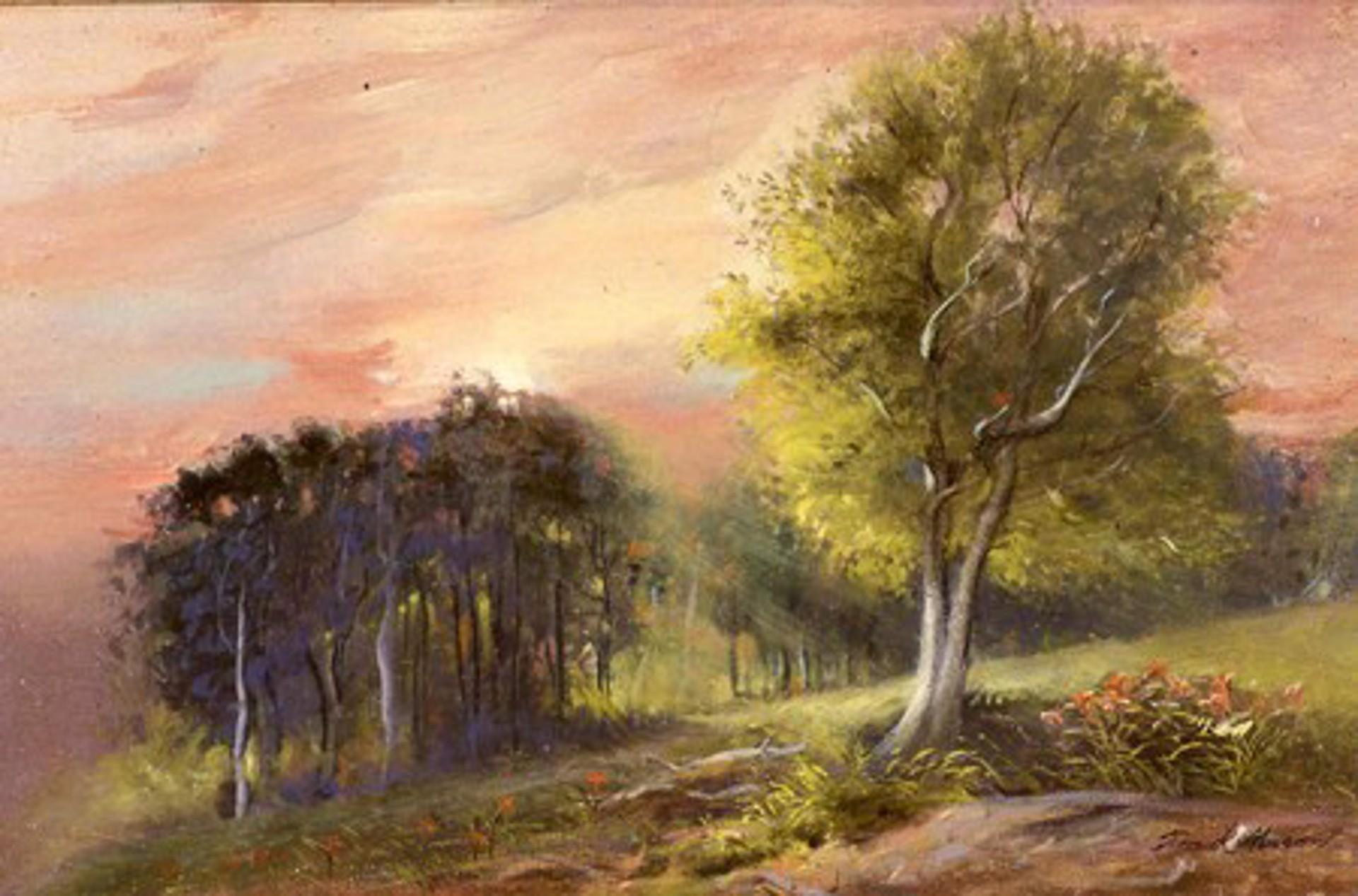 Early Sunrise, Stowe by Frank Mason (1921 - 2009)