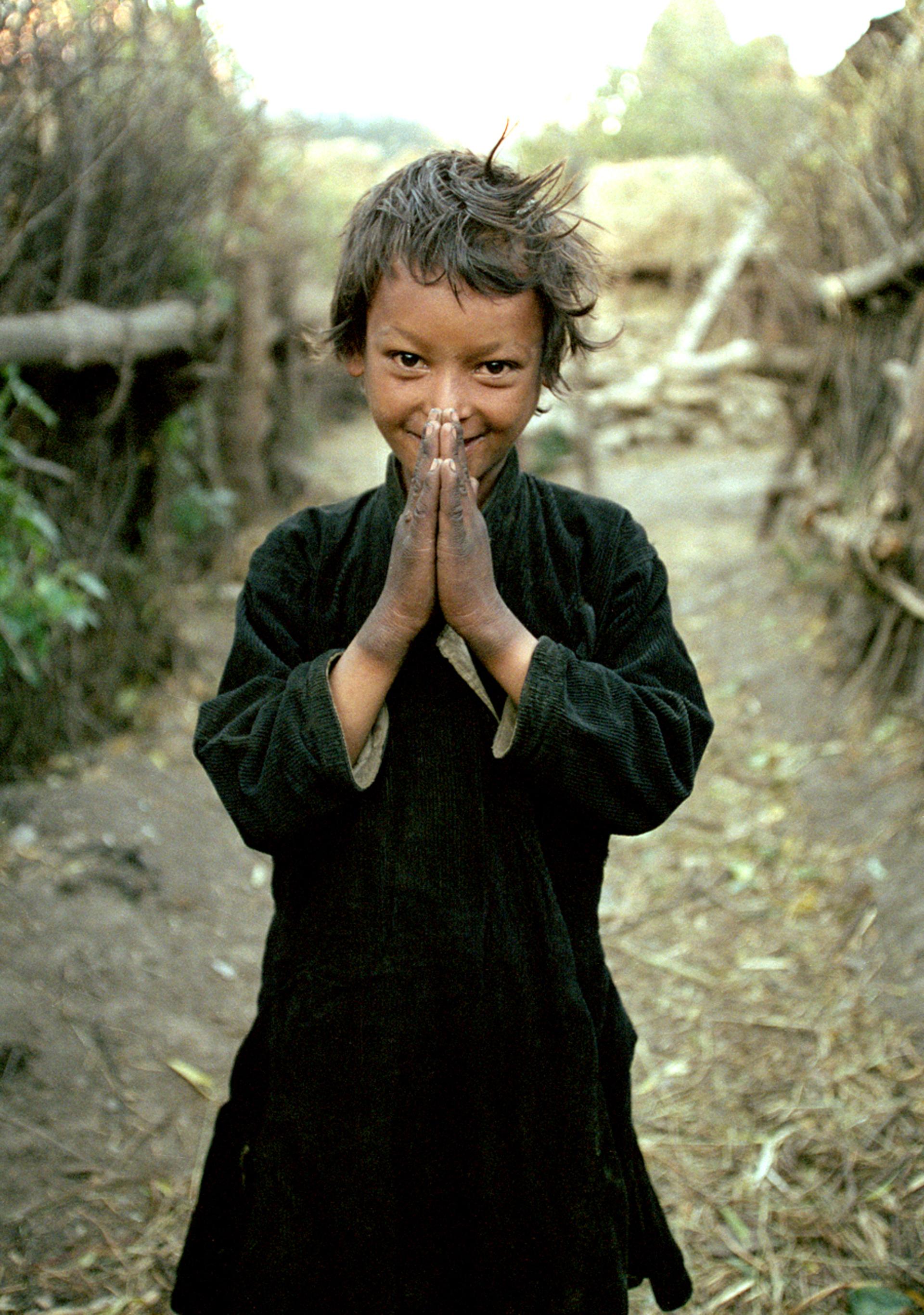 Namaste, Simikot, Humla region, Nepal by Cora Edmonds