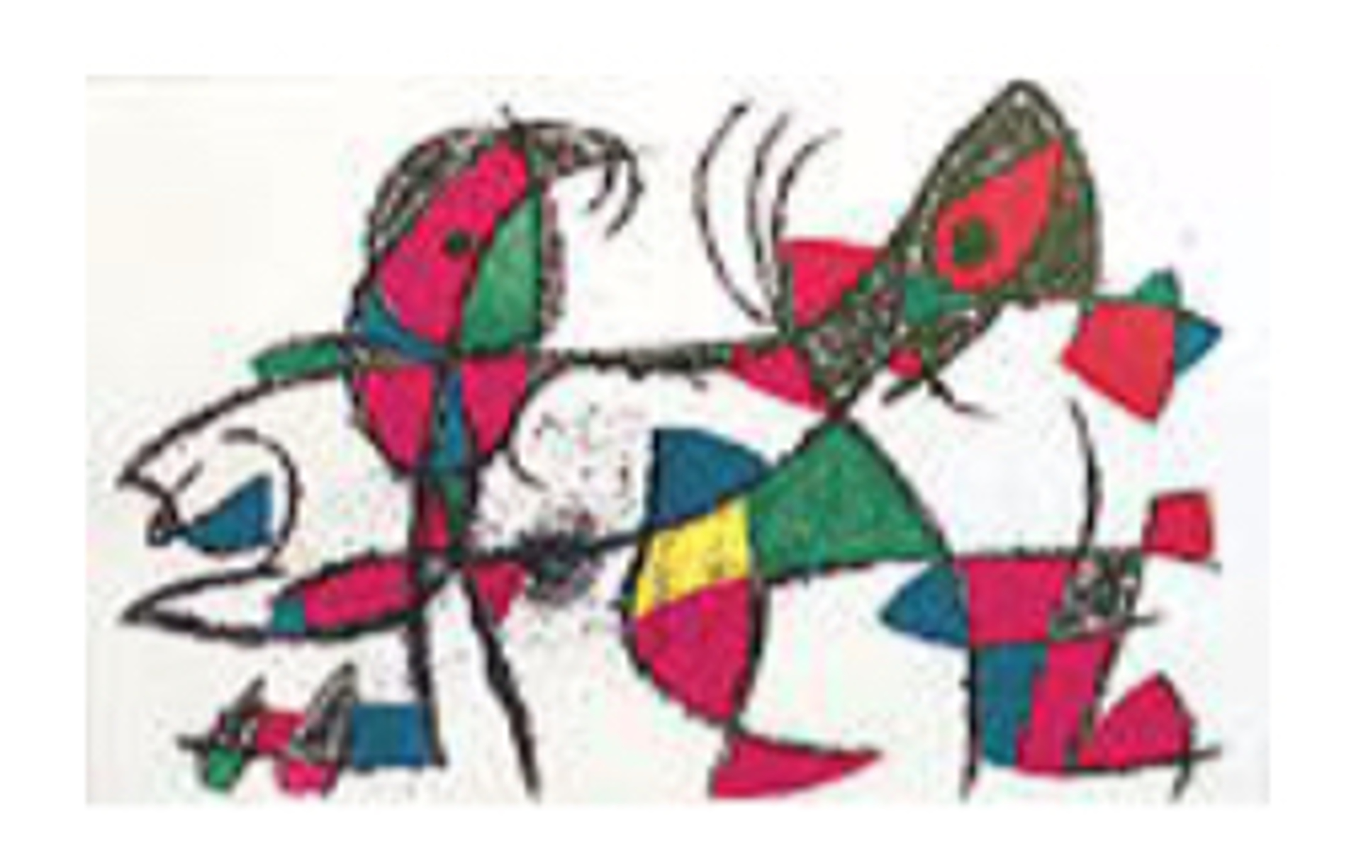 Miro Lithographs Volume II Plate X by Joan Miro (1893 - 1983)