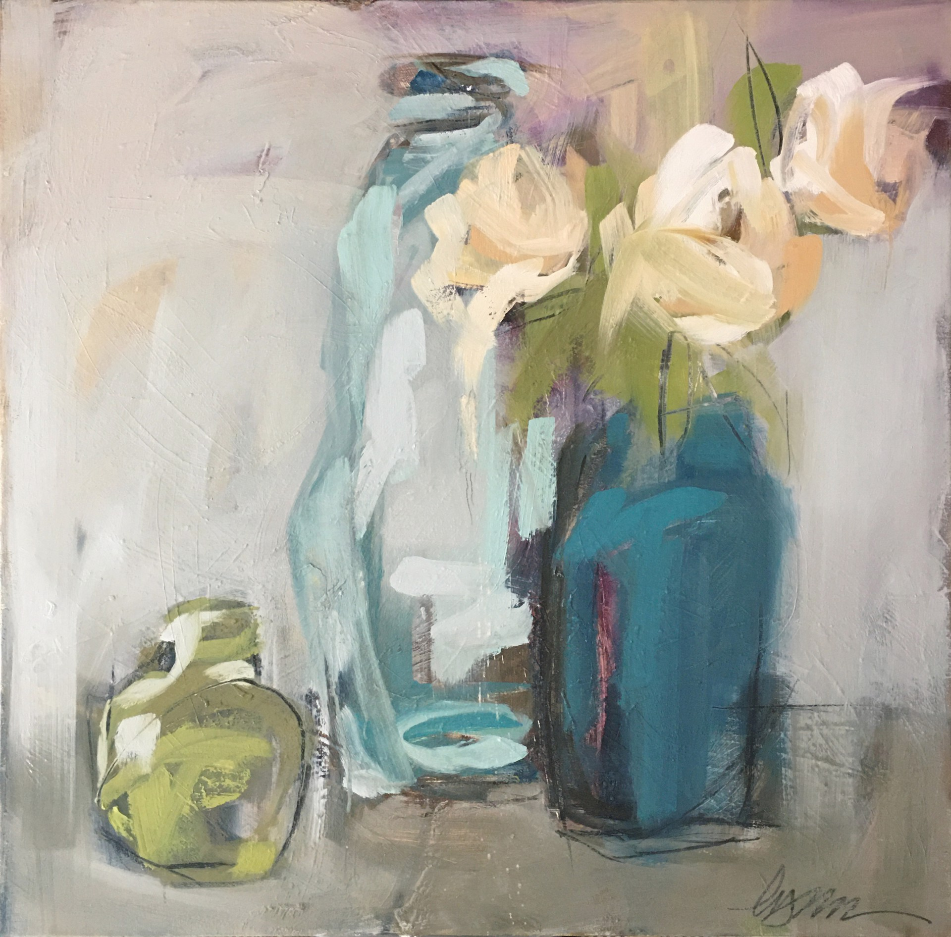 Study for Peonies in Blue by Lynn Johnson