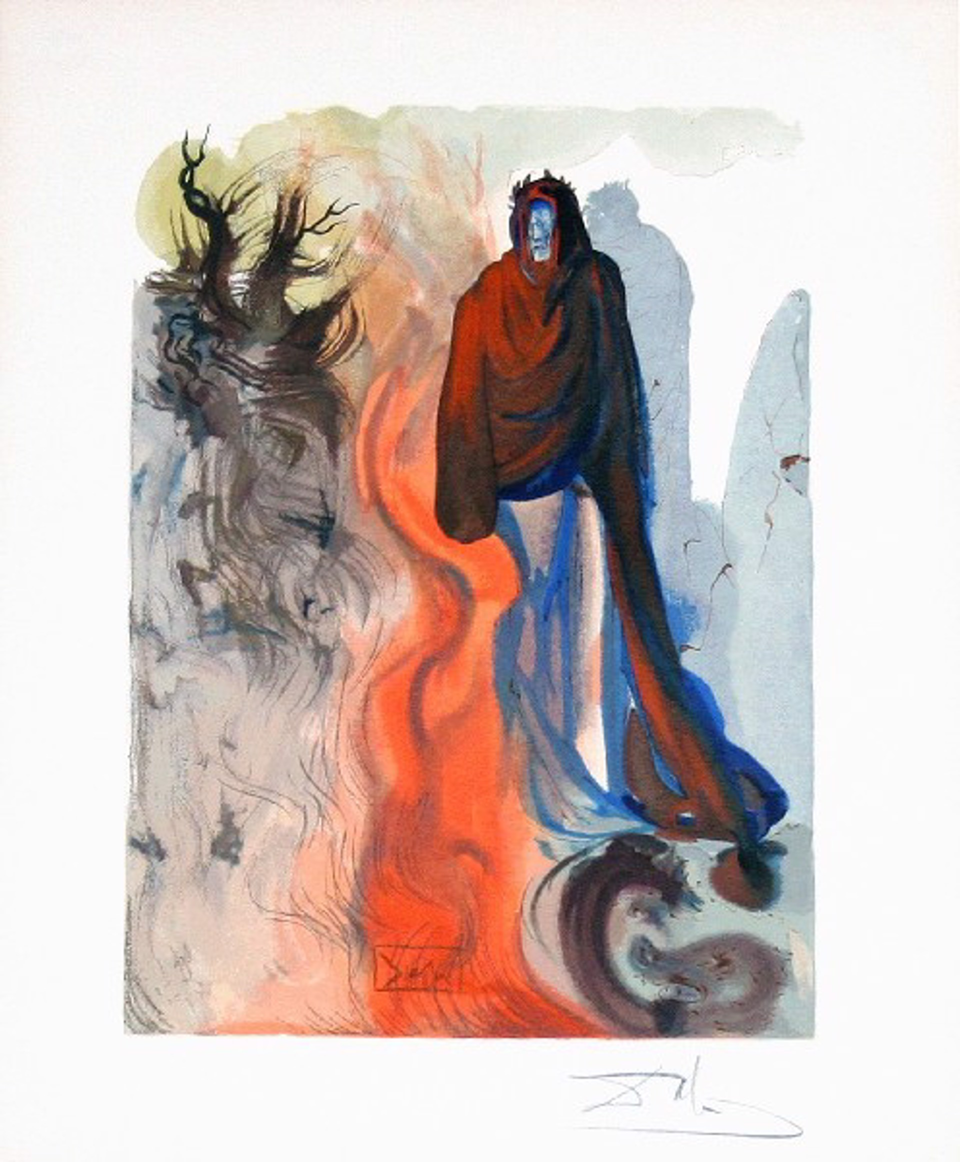 Inferno Canto 34 The Apparition of Dis from the Divine Comedy by Salvador Dali (1904 - 1989)