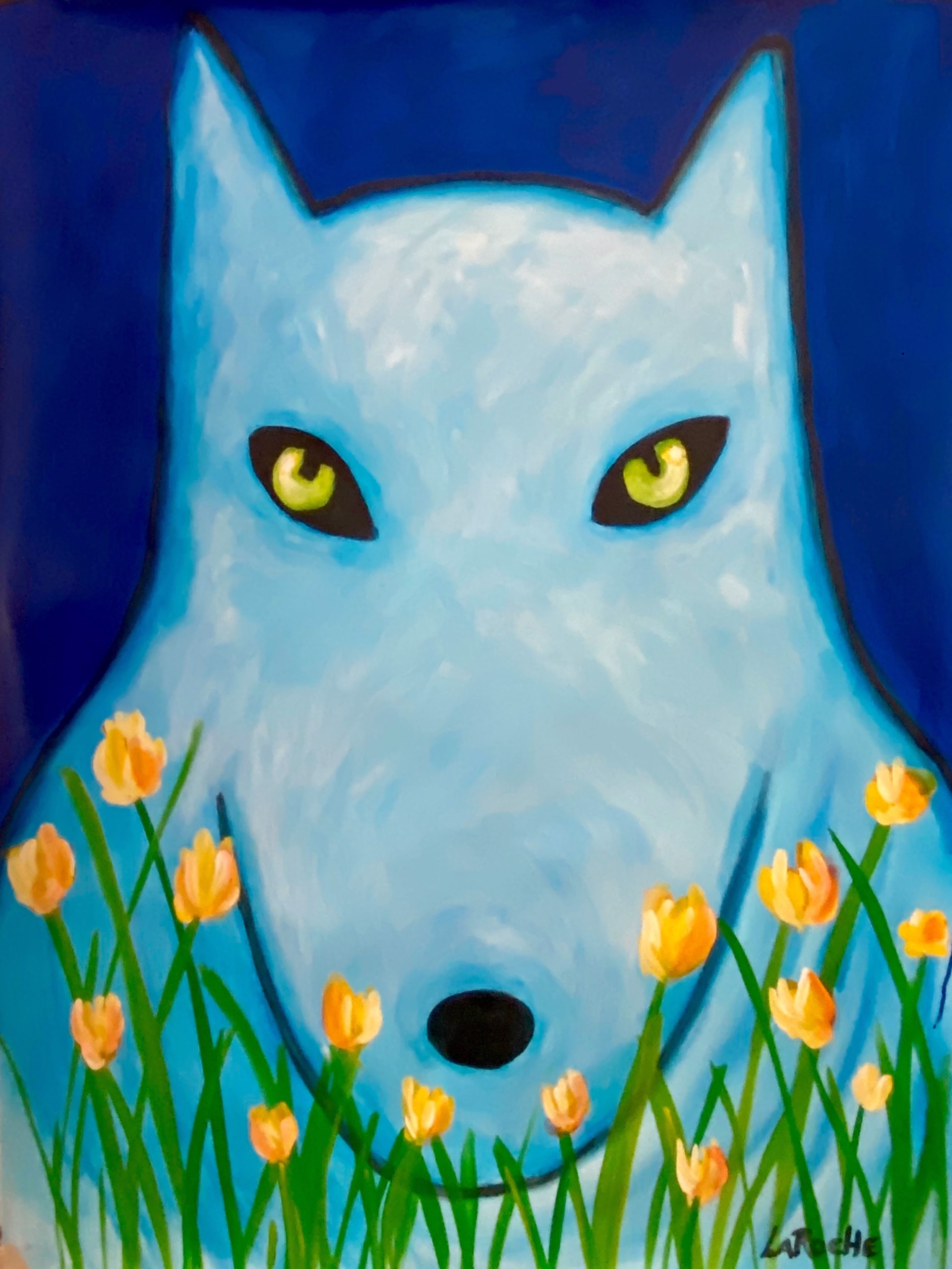 In The Garden: Arctic Wolf by Carole LaRoche