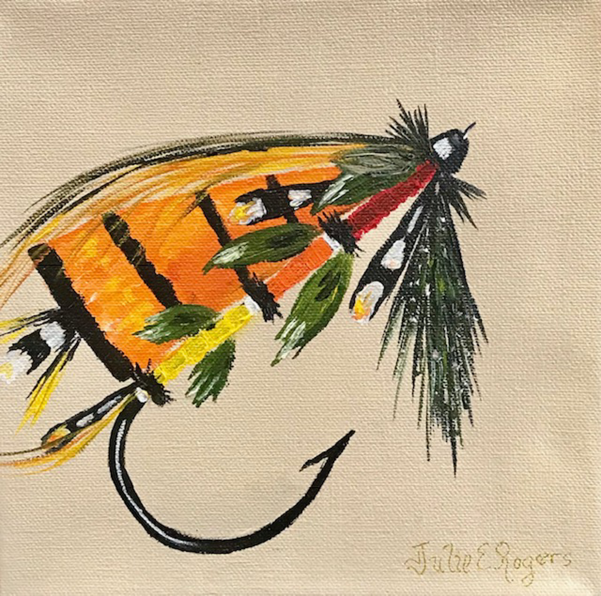 Salmon Fly 3 by Julie Rogers