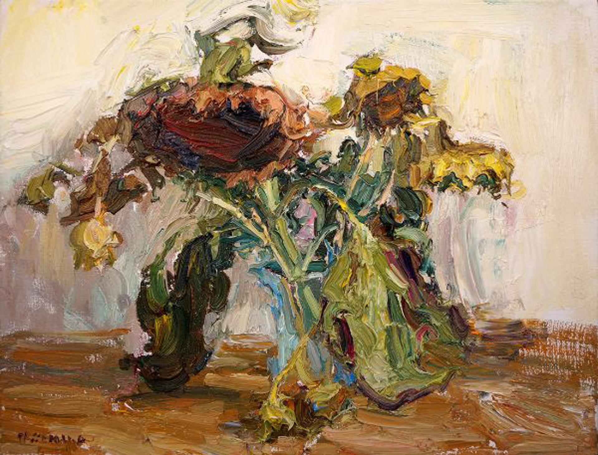 Dry Sunflowers by Antonin Passemard