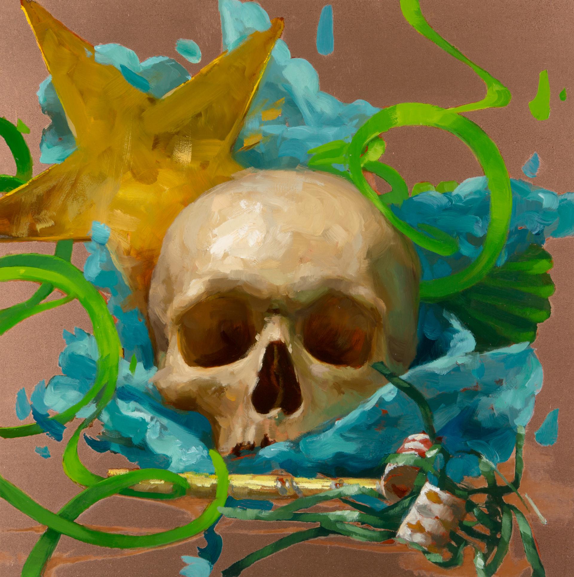 Party Skull #3 by Elizabeth Zanzinger