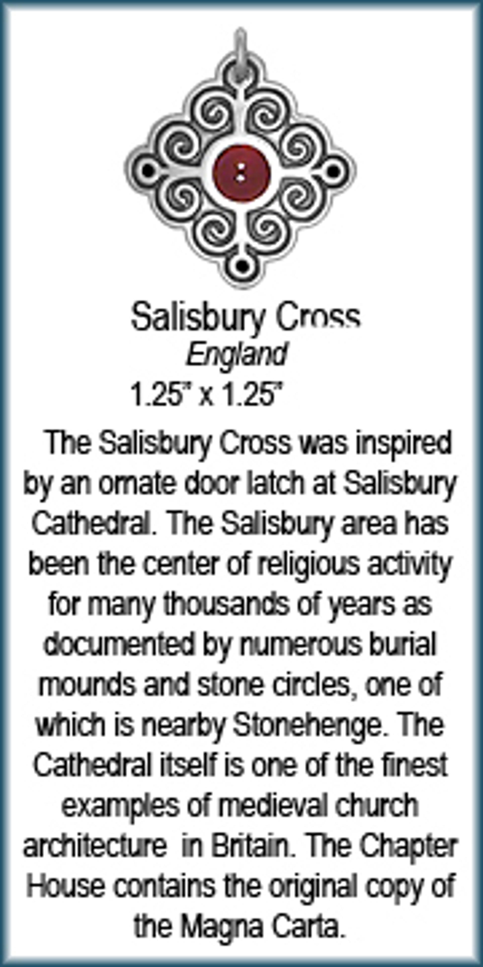 Pendant -Vermeil Salisbury Cross 8286 by Deanne McKeown