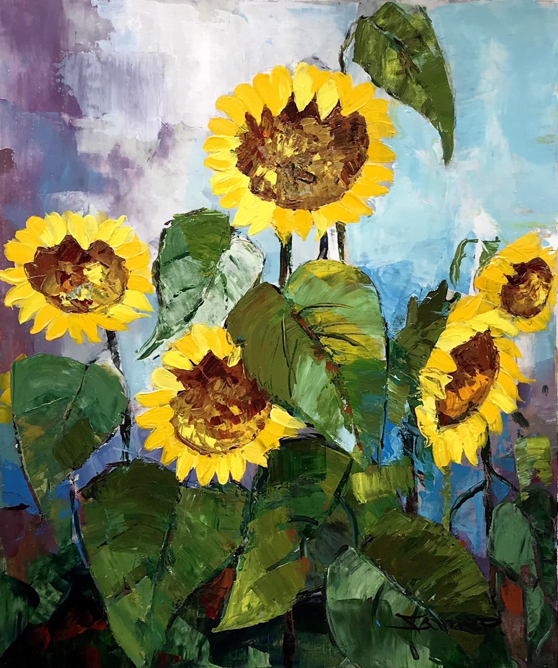 FIVE SUNFLOWERS by VARIOUS WORKS