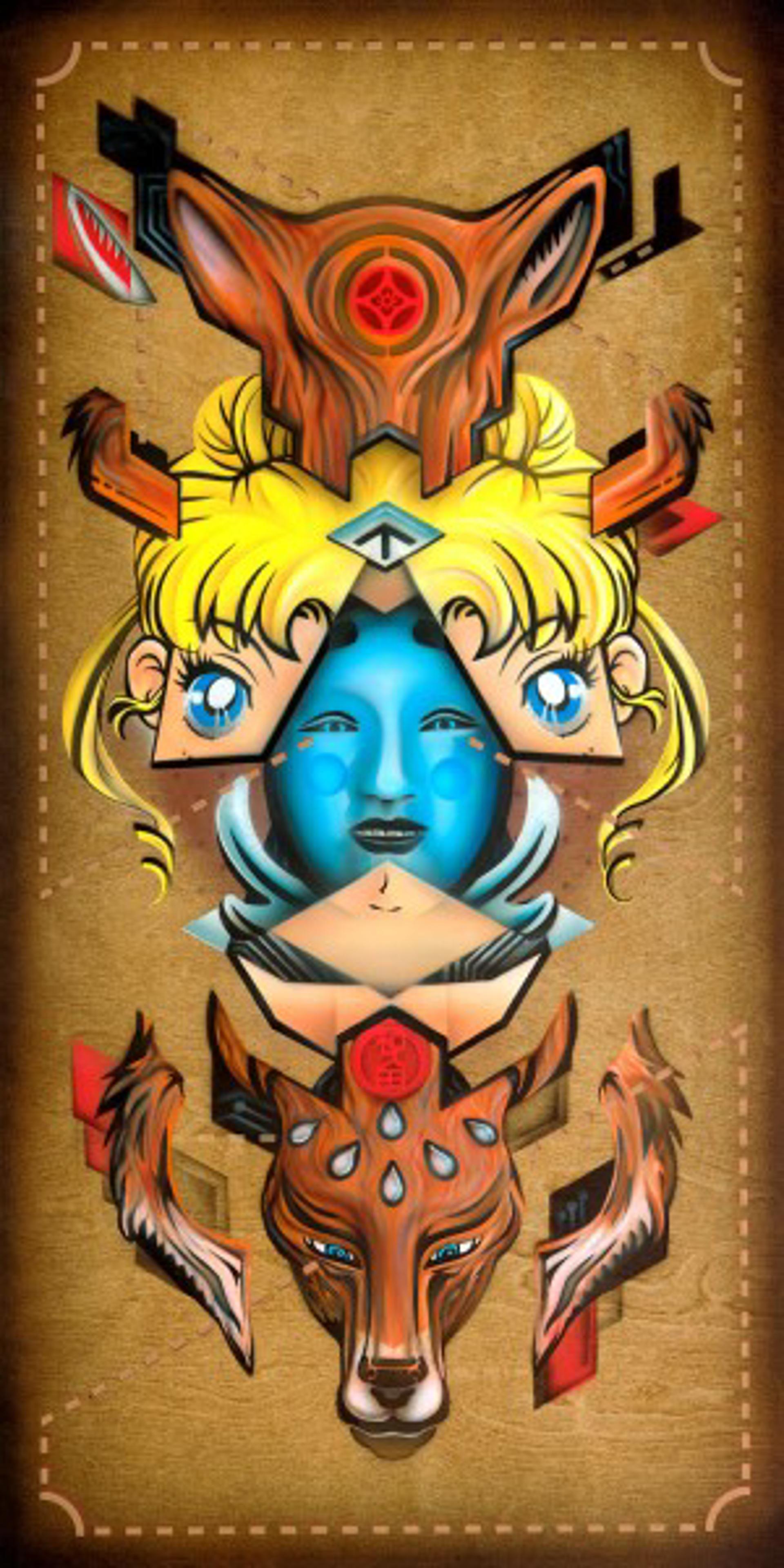 Symmetry of the Feminine:  (Physiognomies IV):   by Jonathan Wakuda Fischer