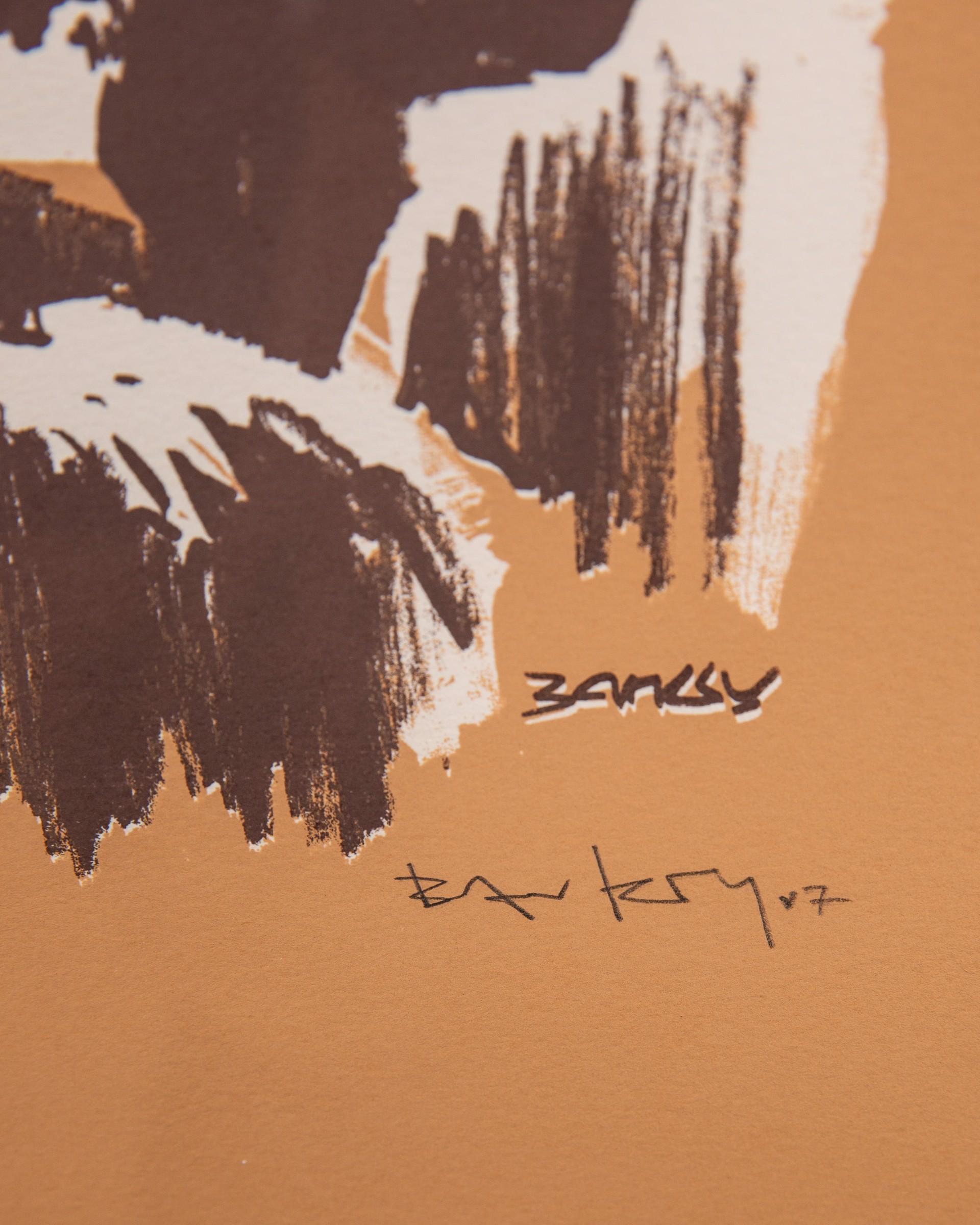 Morons (Sepia) by Banksy