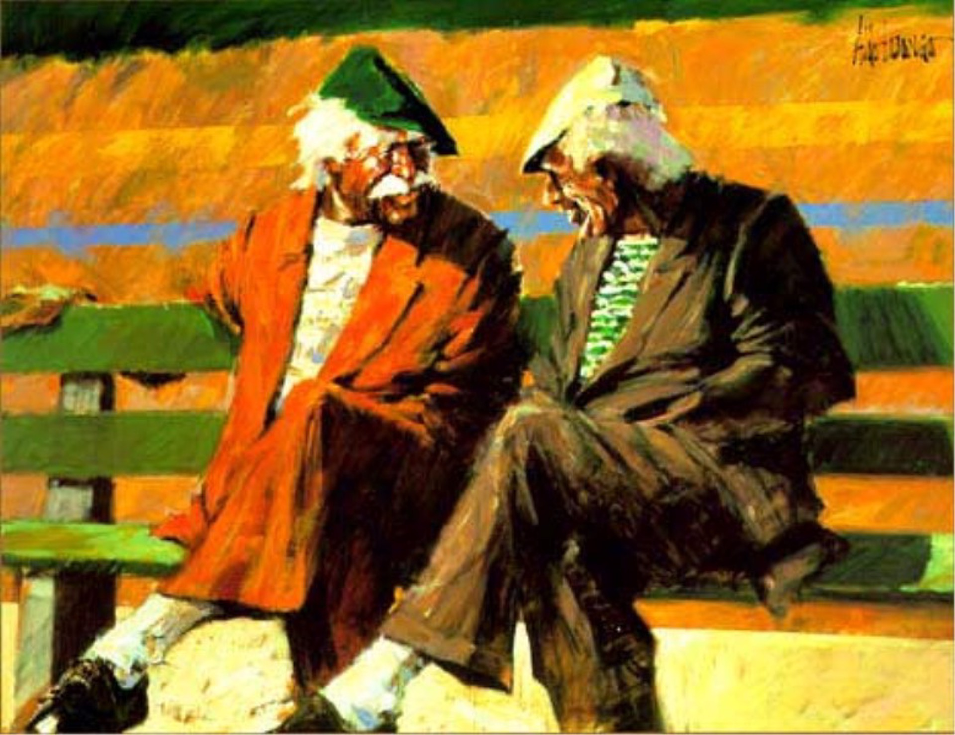 Telling Stories at the Bench by Aldo Luongo