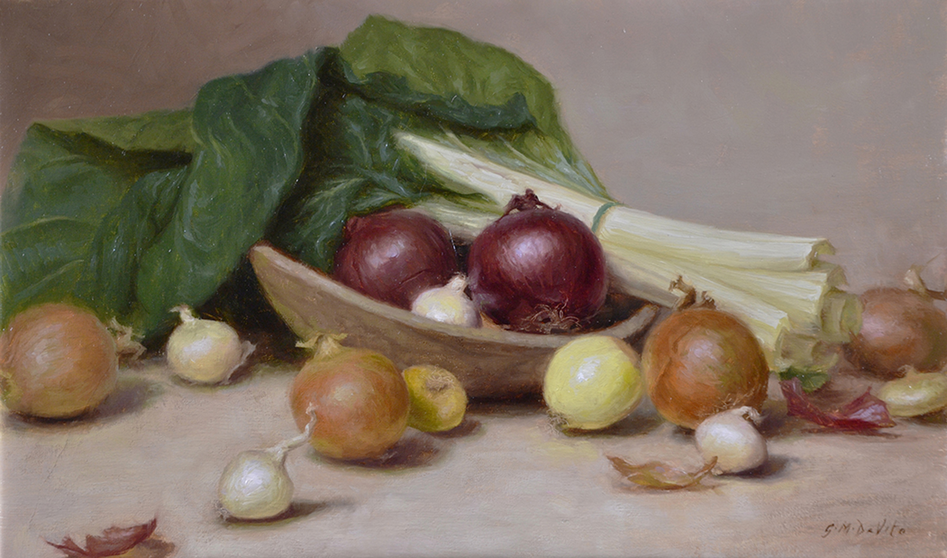 Onions and Swiss Chard by GRACE DeVITO
