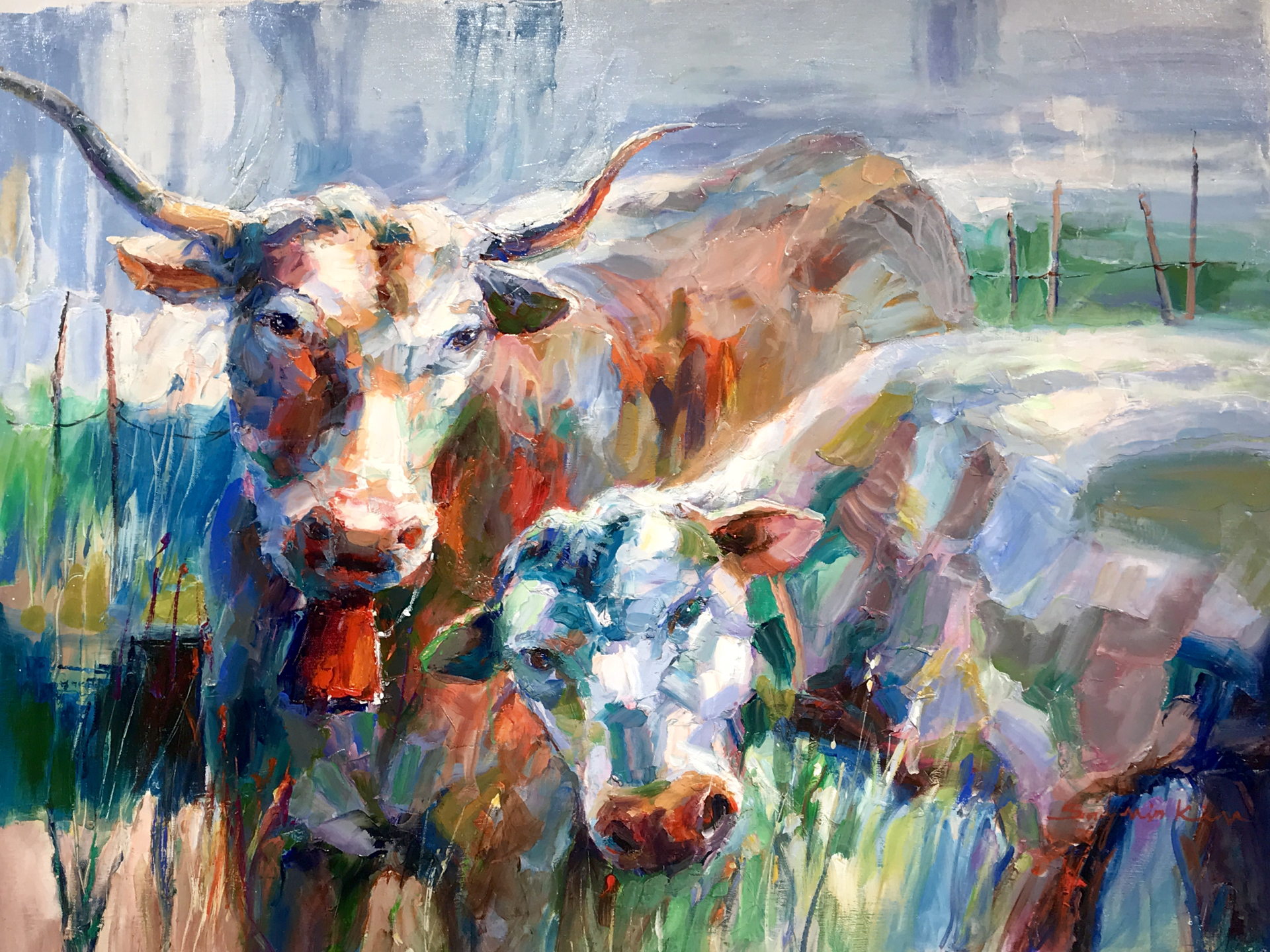 LONGHORN CATTLE by SUN MIN KIM