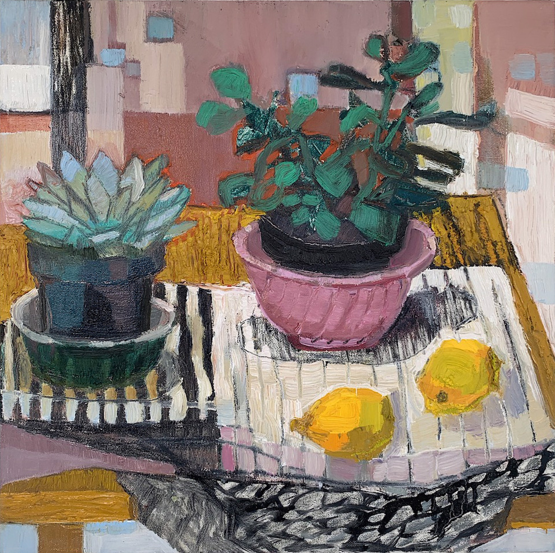 Succulents and Lemons by Maggie Shepherd