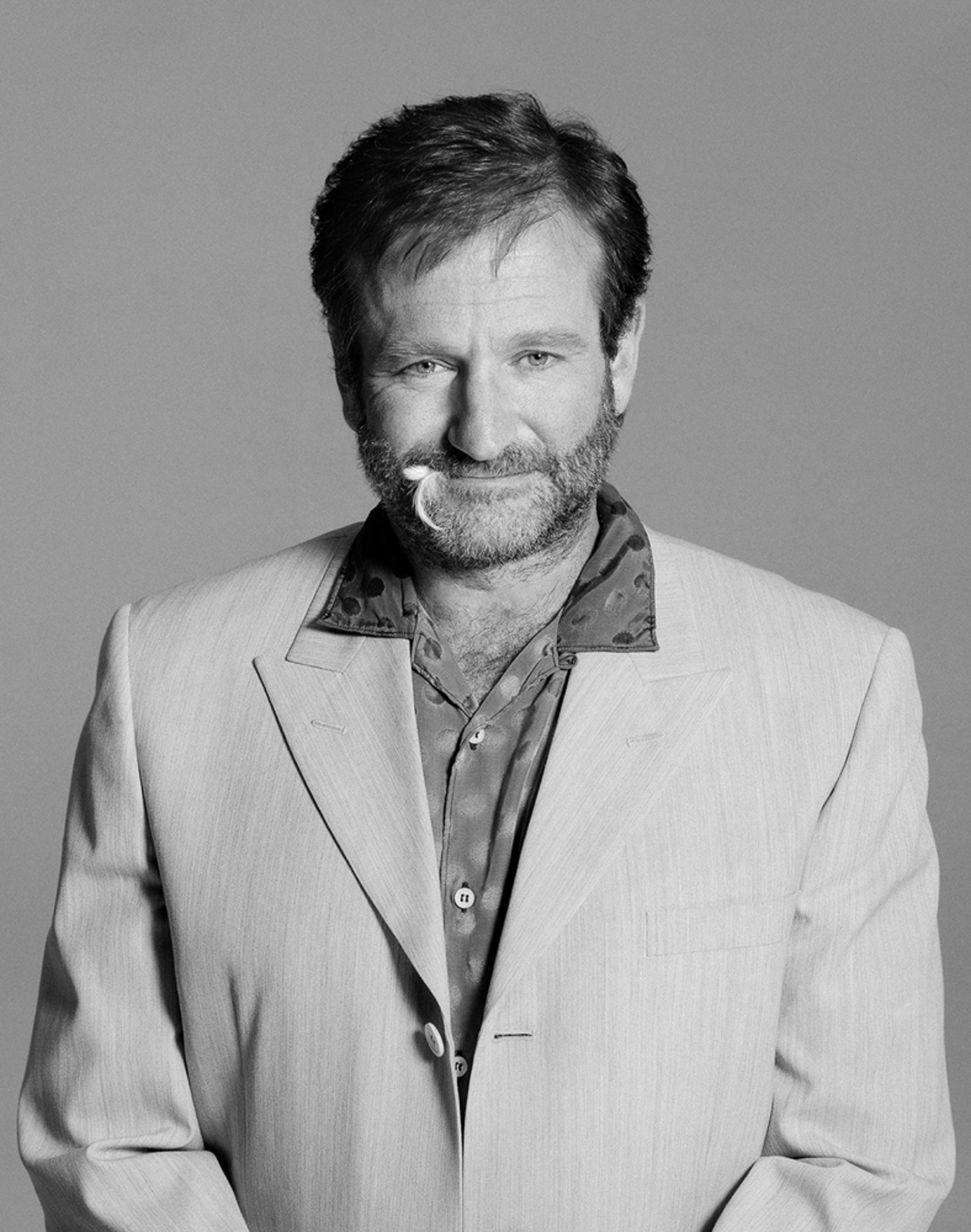 95123 Robin Williams Feather BW by Timothy White