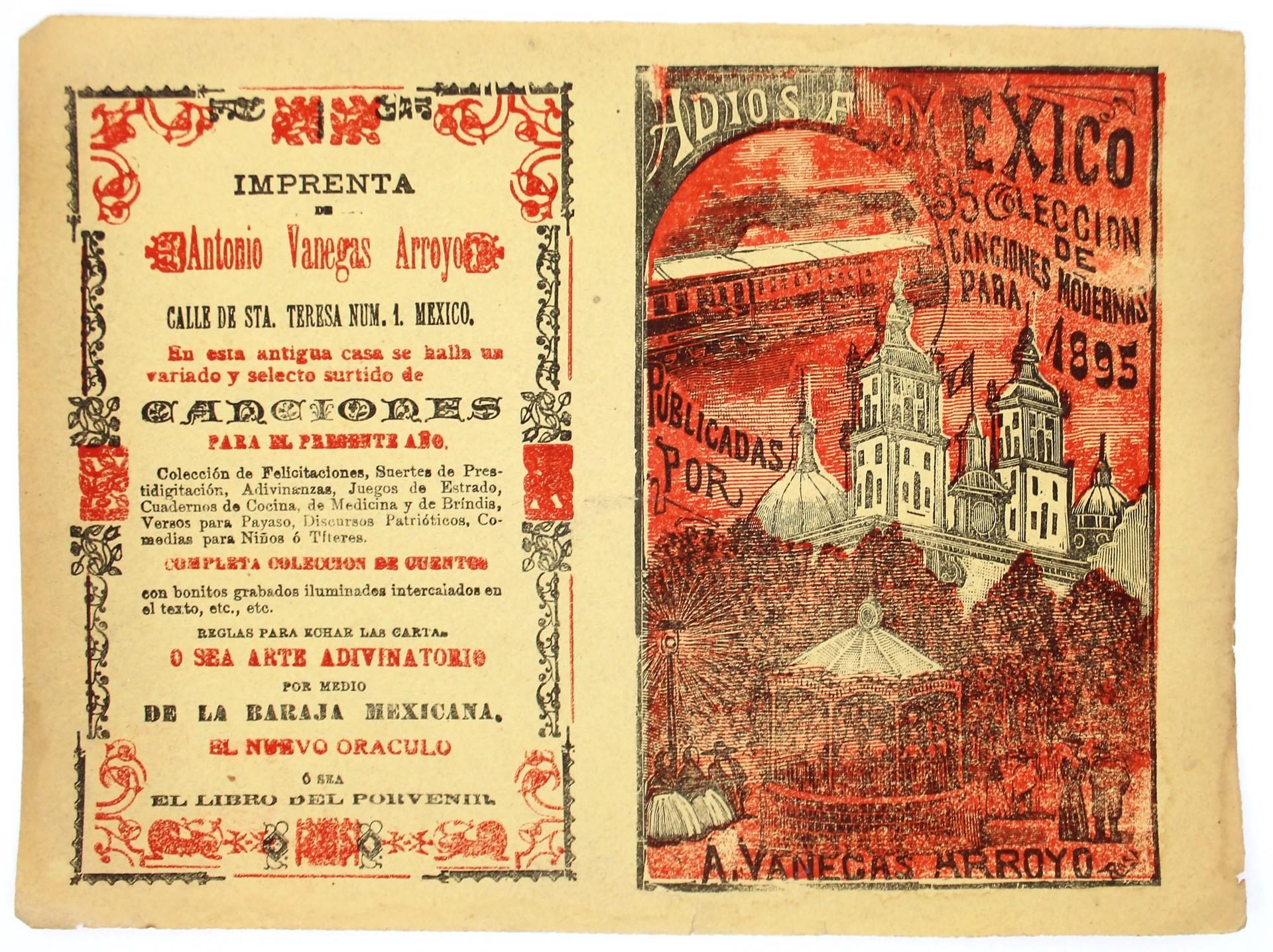 Adios a Mexico. Coleccion de canciones modernas, No. 35 by José Guadalupe Posada (1852 - 1913)