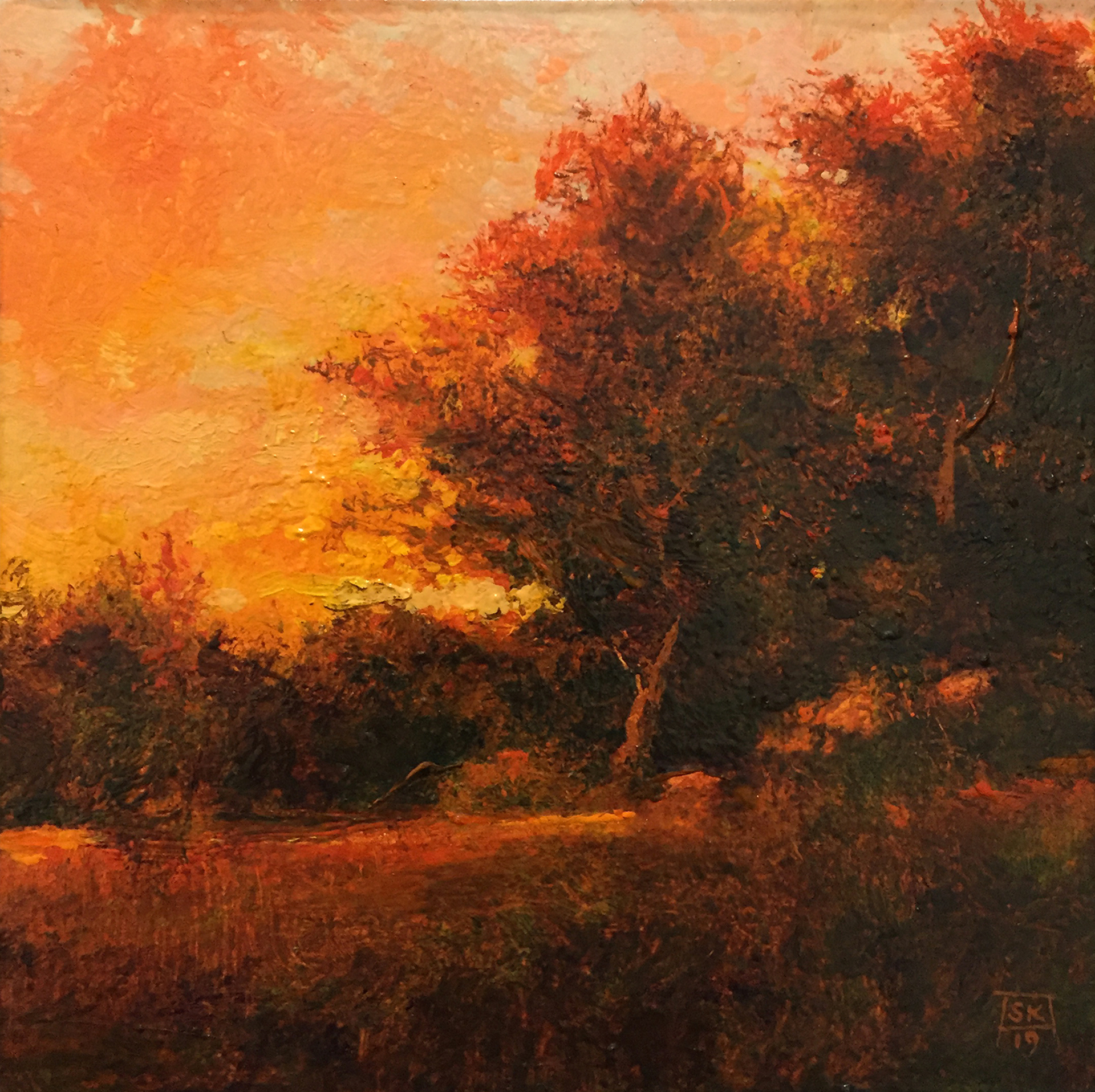 Evening (Ode to F. DeHaven) by Shawn Krueger