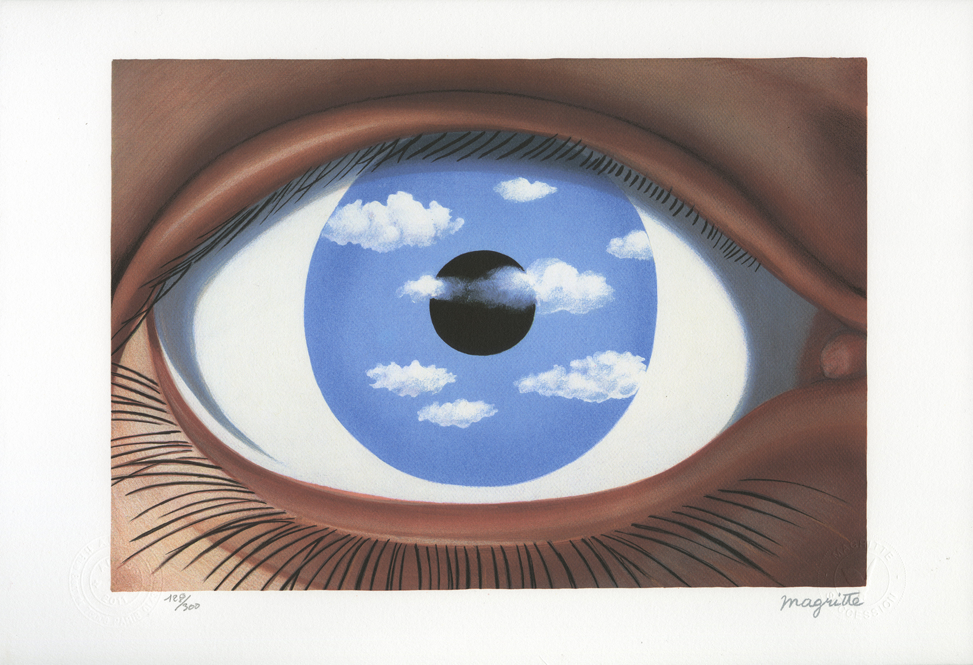 Le Faux Miroir (The False Mirror) by Rene Magritte