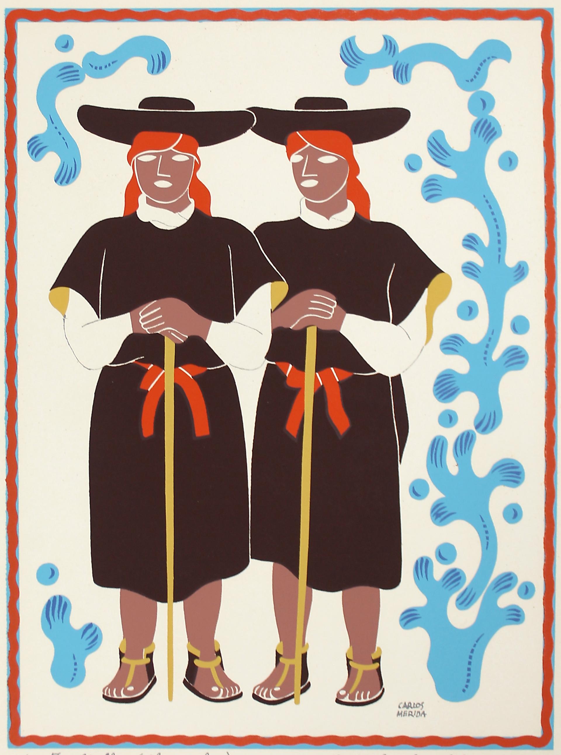 Tzoltziles (Chamulas), Estado de Chiapas by Carlos Mérida (1891 - 1985)