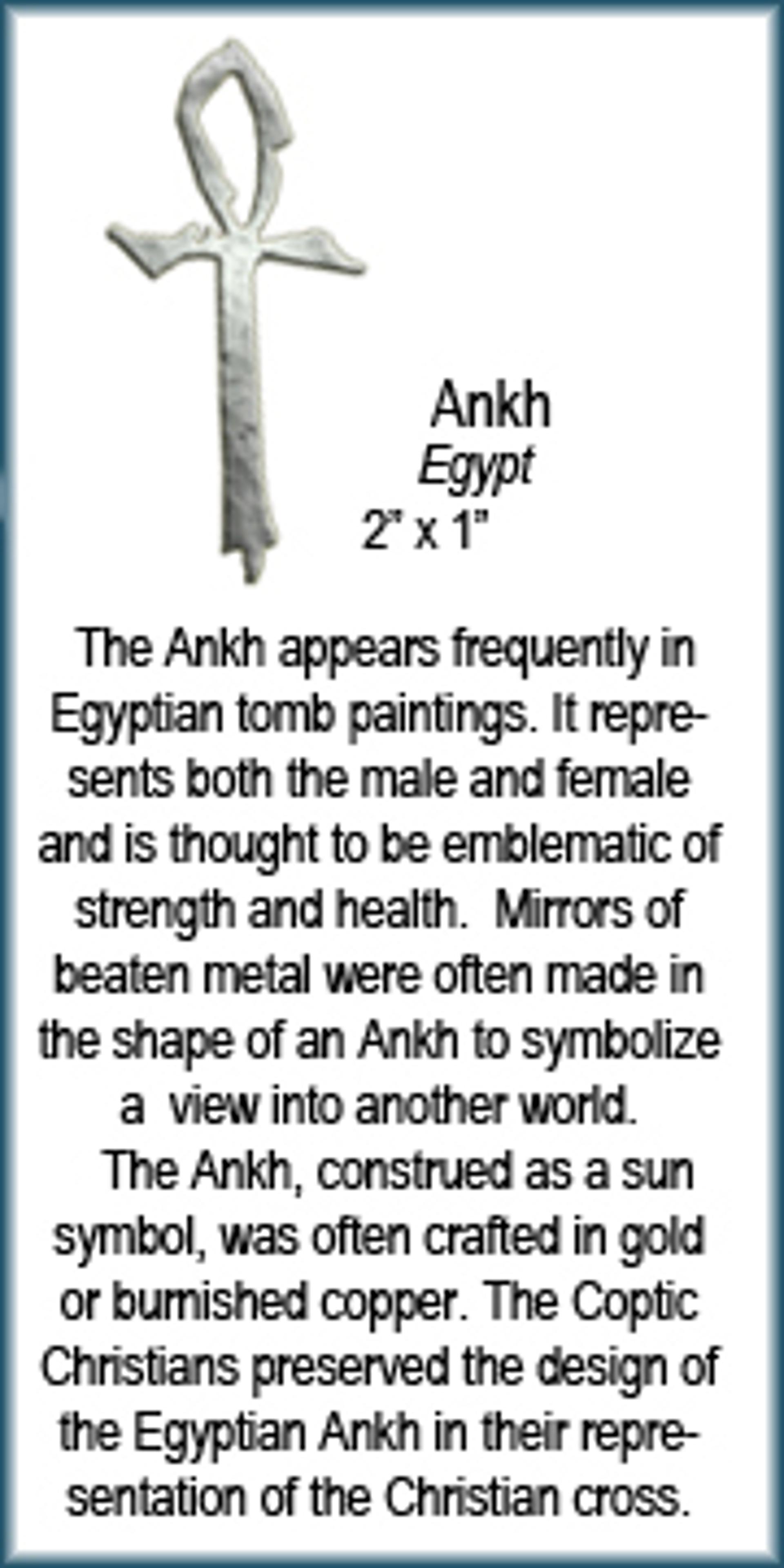 Pendant - Silver Ankh 9291 by Deanne McKeown