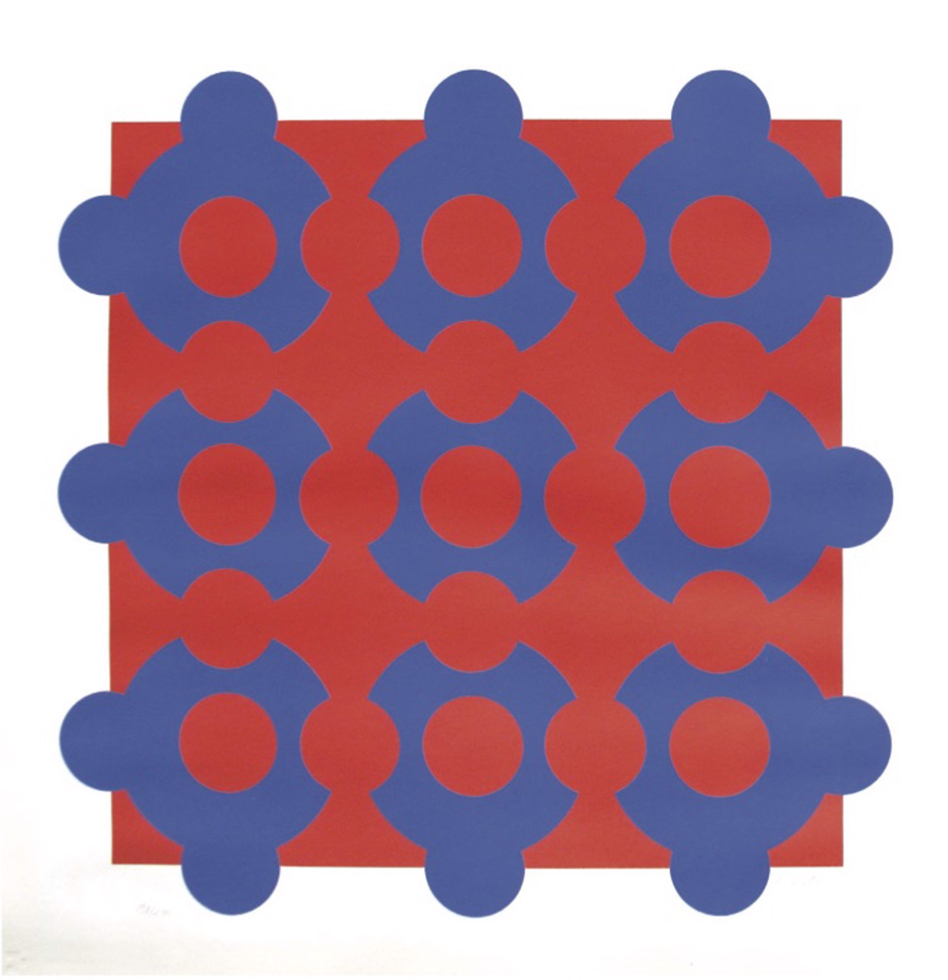 Procion-Red/Blue by Victor Vasarely