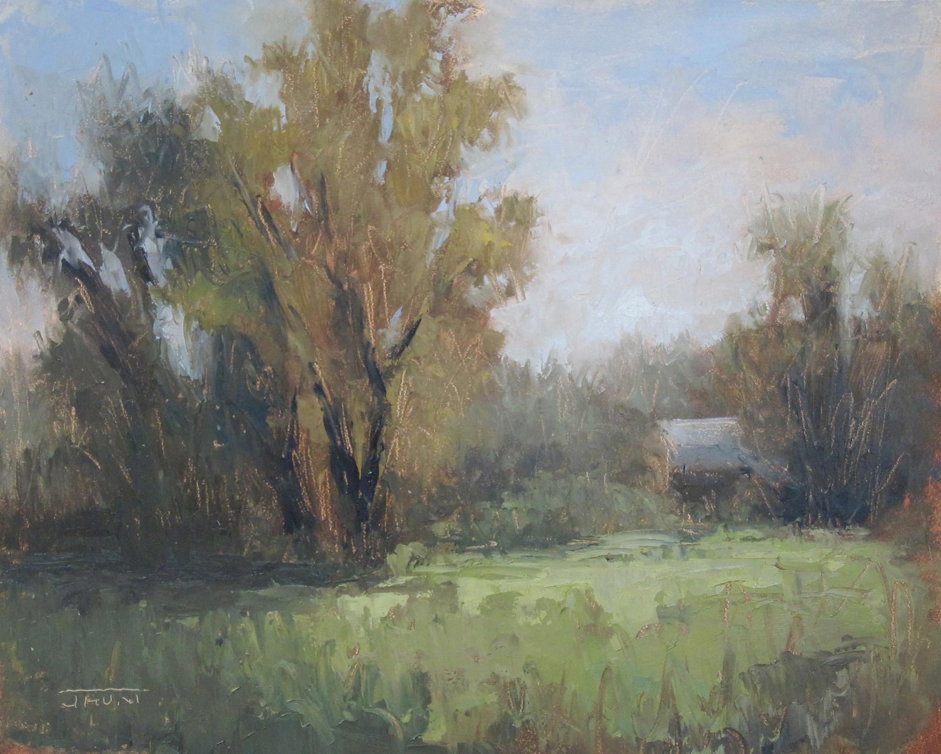 Near Walden Pond by Jane Hunt