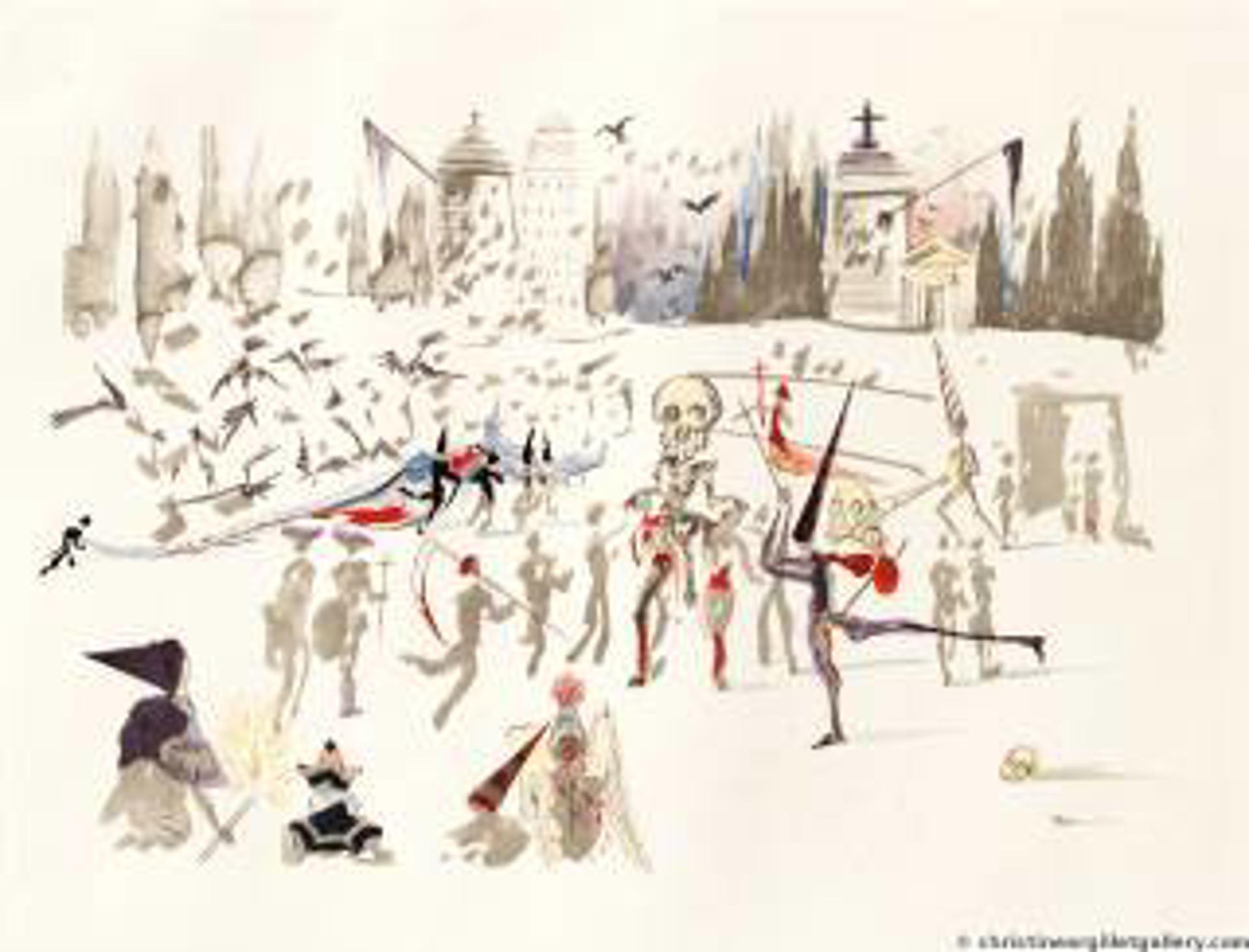 "Surrealist Bullfight ""The Mills"" by Salvador Dali"