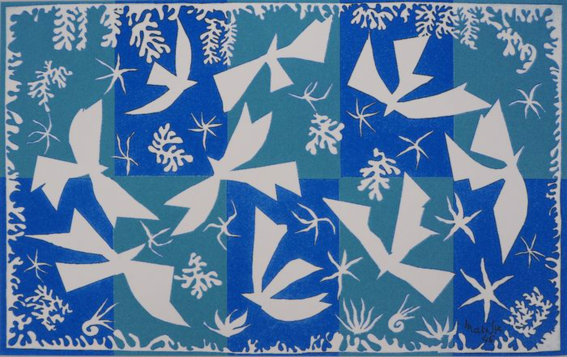 Doves in the sky  by Henri Matisse (1869 - 1954)
