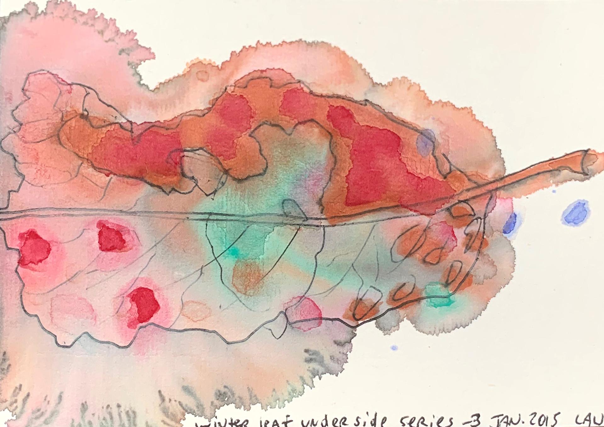 Winter Leaf Underside series 3 by Alan Lau
