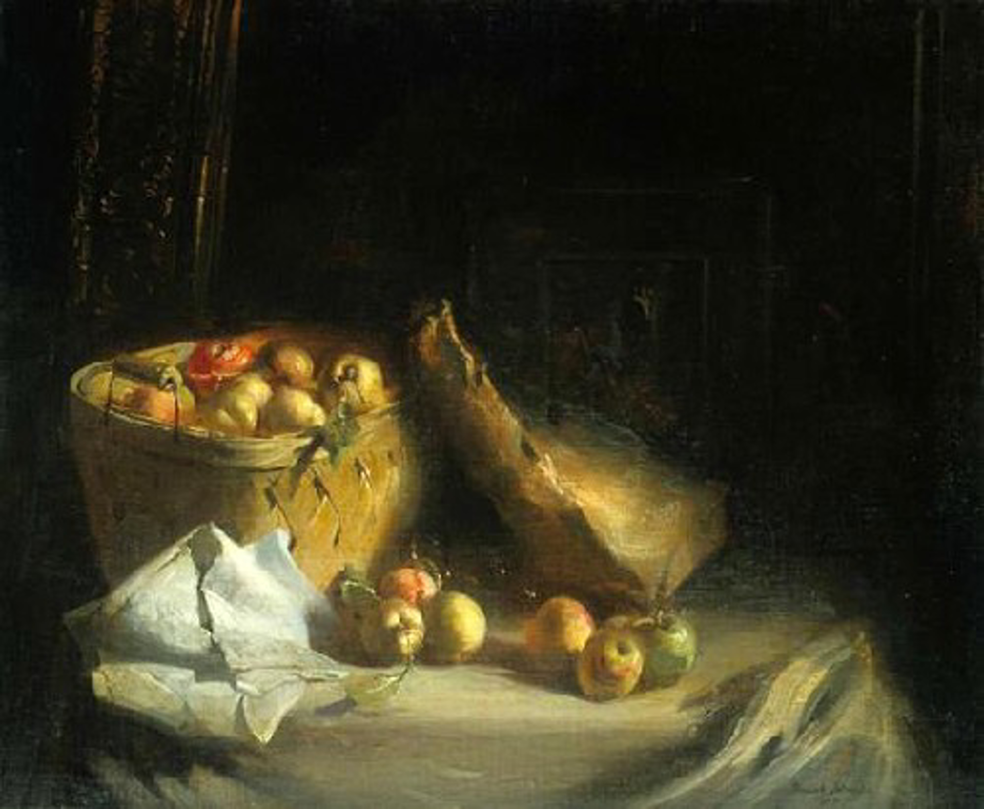Apple Basket by Frank Mason (1921 - 2009)