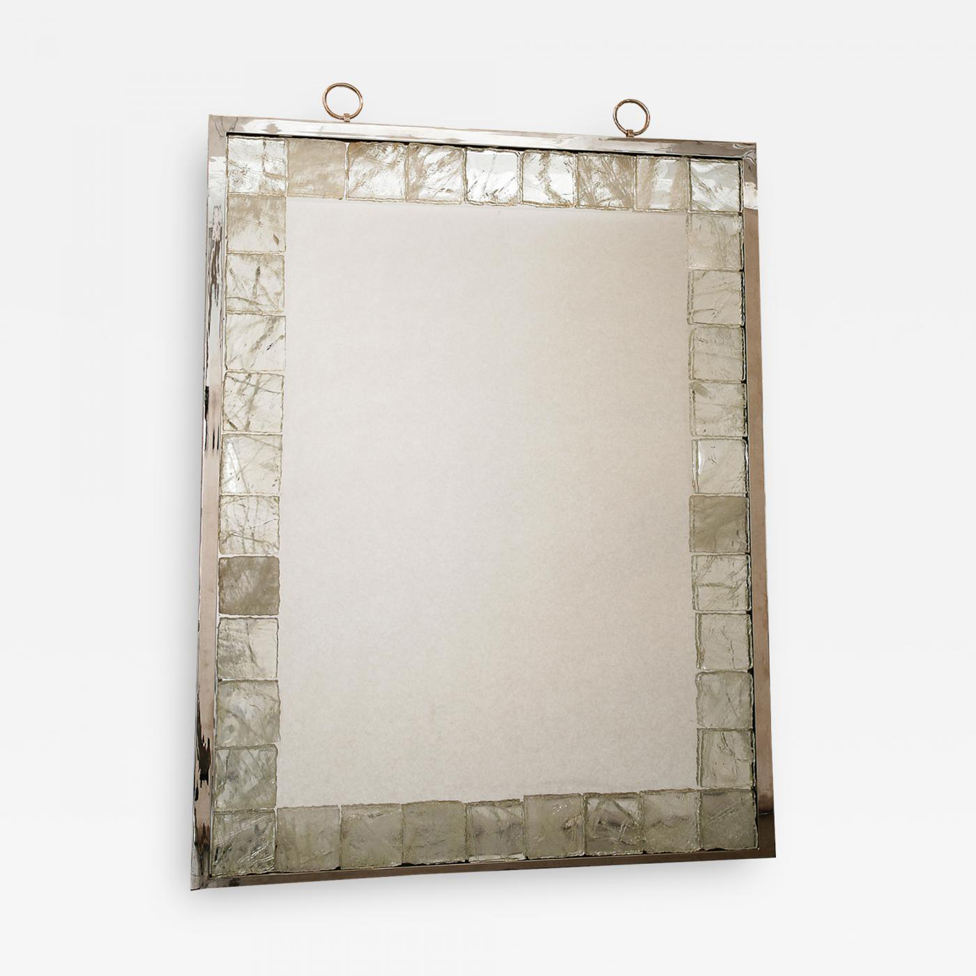 Mirror with rock crystal tiles by Andre Hayat