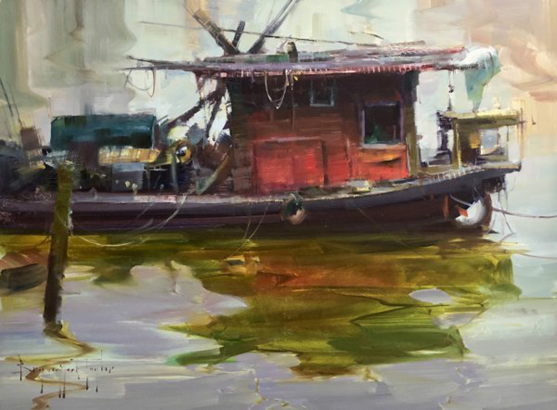 Bryan Mark Taylor: Red Boat by Bryan Mark Taylor