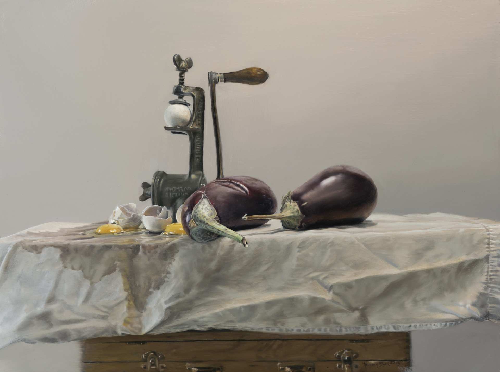 Two Eggplants by Gregory Block