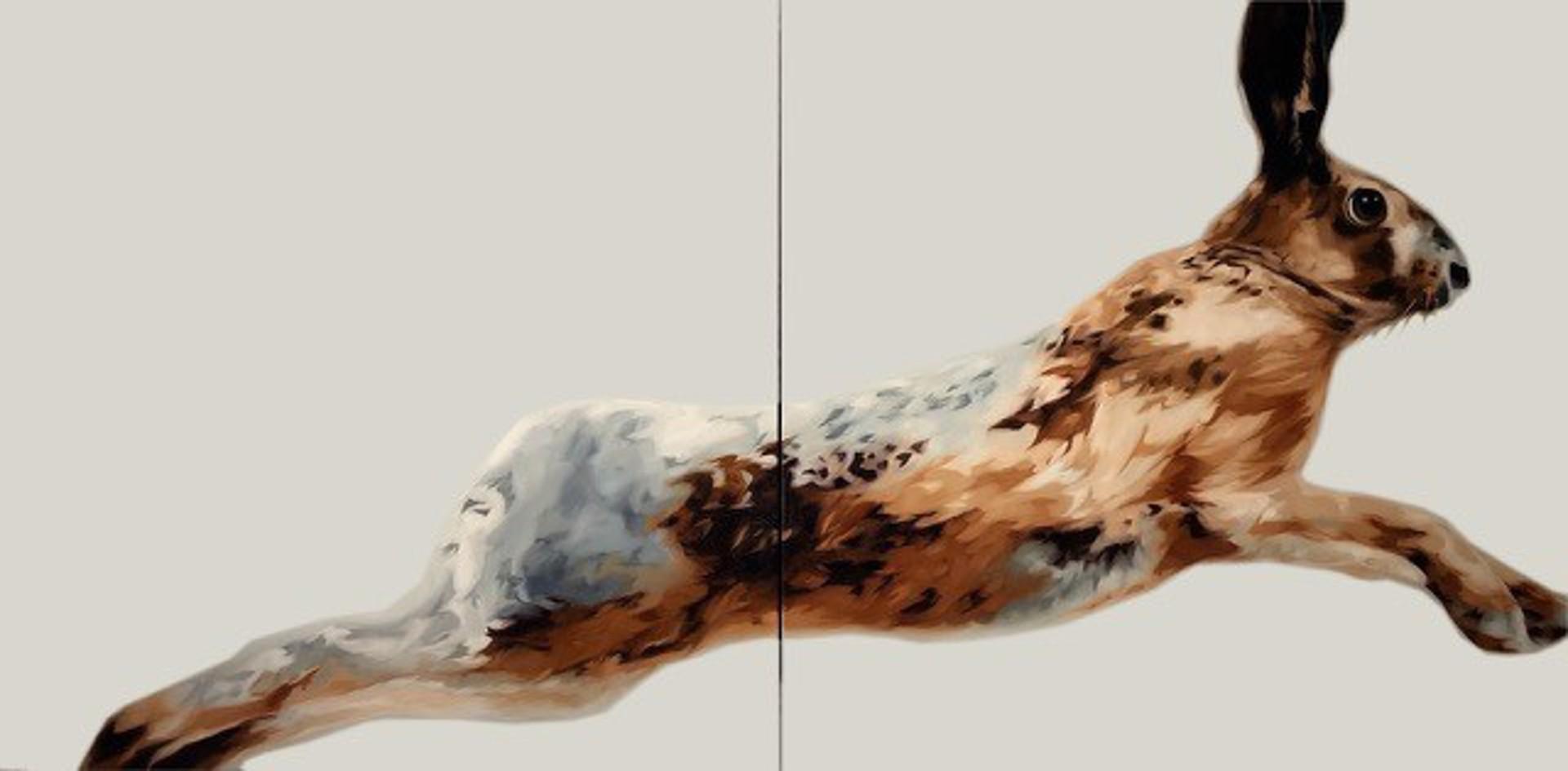 Rabbit Wins The Race (Diptych) by HEATHER MILLAR