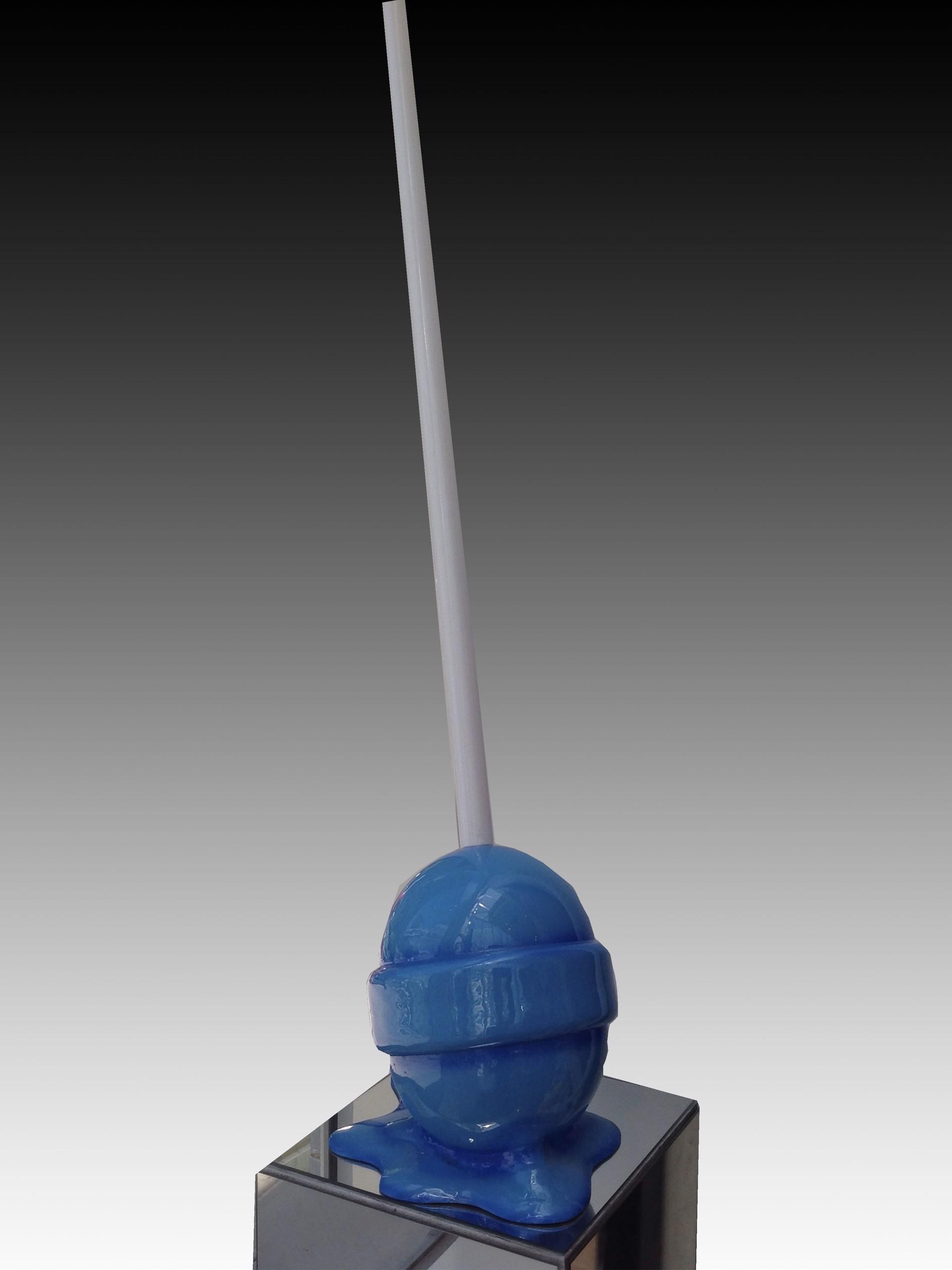 Sky Blue Medium Puddle Lollipop by Elena Bulatova